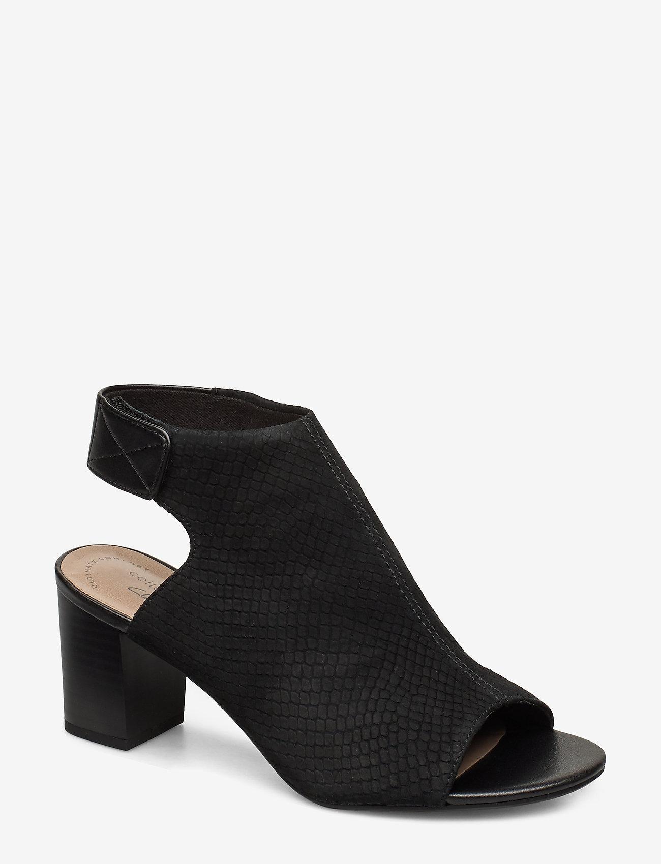 Clarks - Deva Bell - høyhælte sandaler - black nubuck - 0