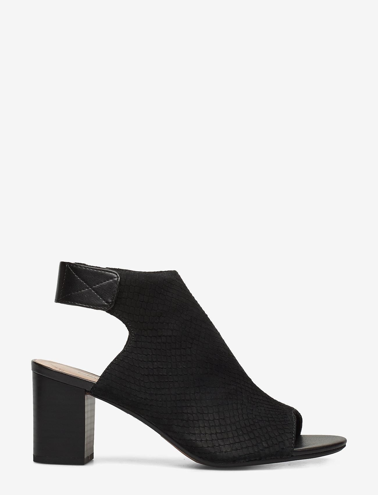 Clarks - Deva Bell - høyhælte sandaler - black nubuck - 1