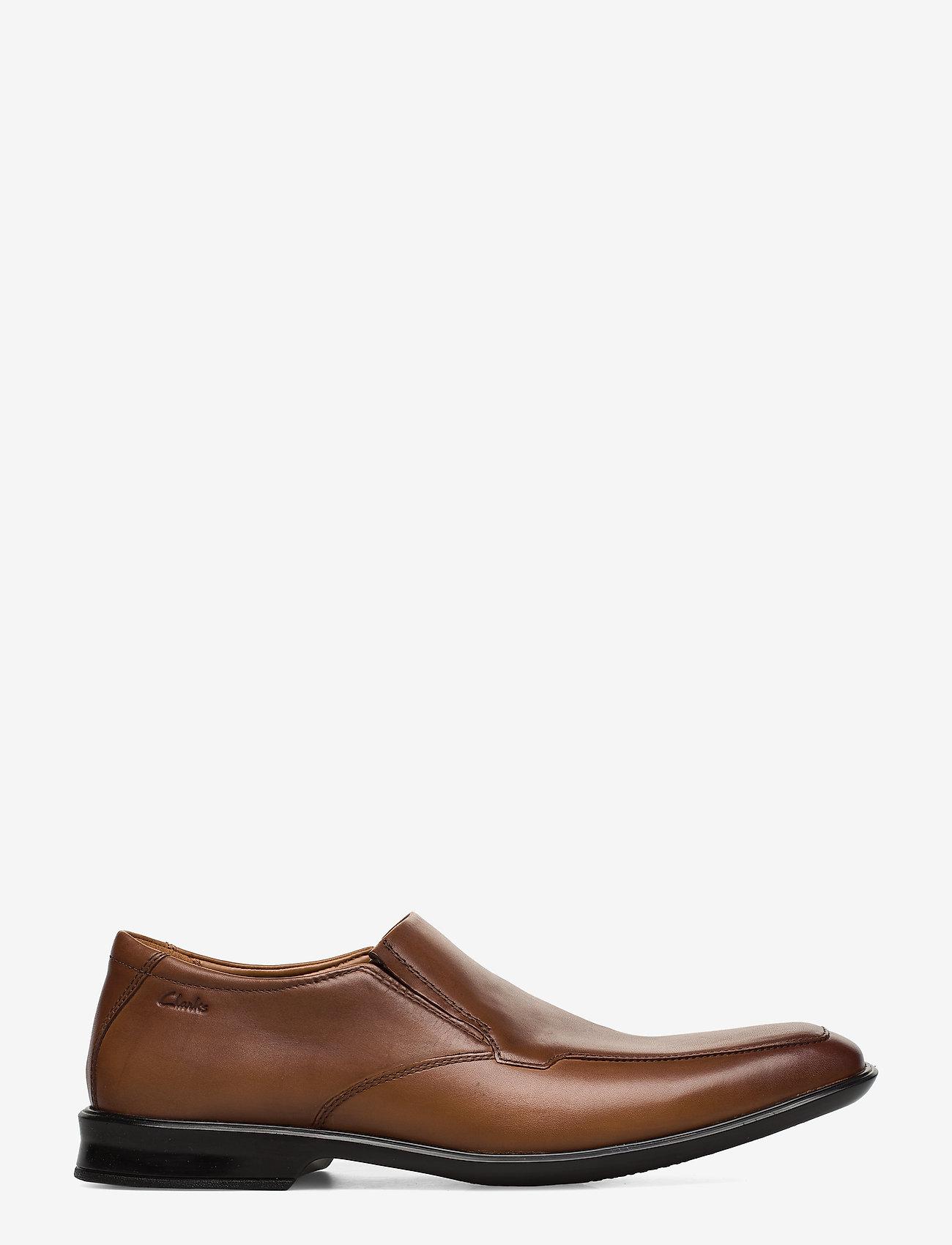 Clarks - Bensley Step - loafers - dark tan lea - 1