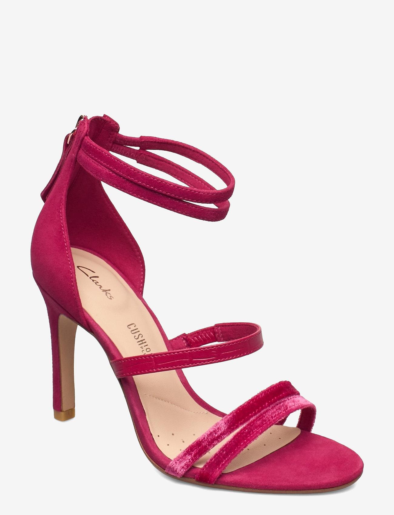 Clarks - Curtain Strap - högklackade sandaler - fuchsia - 1