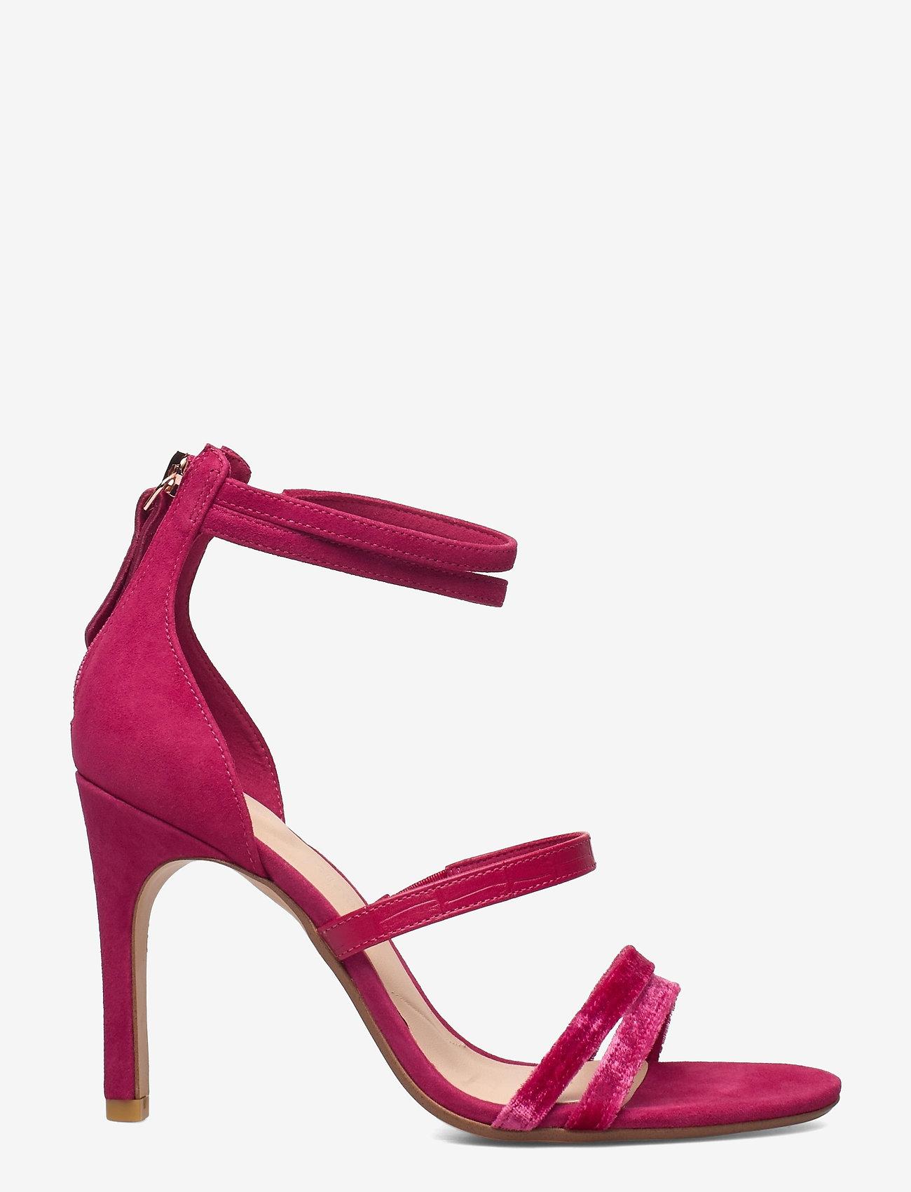 Clarks - Curtain Strap - högklackade sandaler - fuchsia - 0