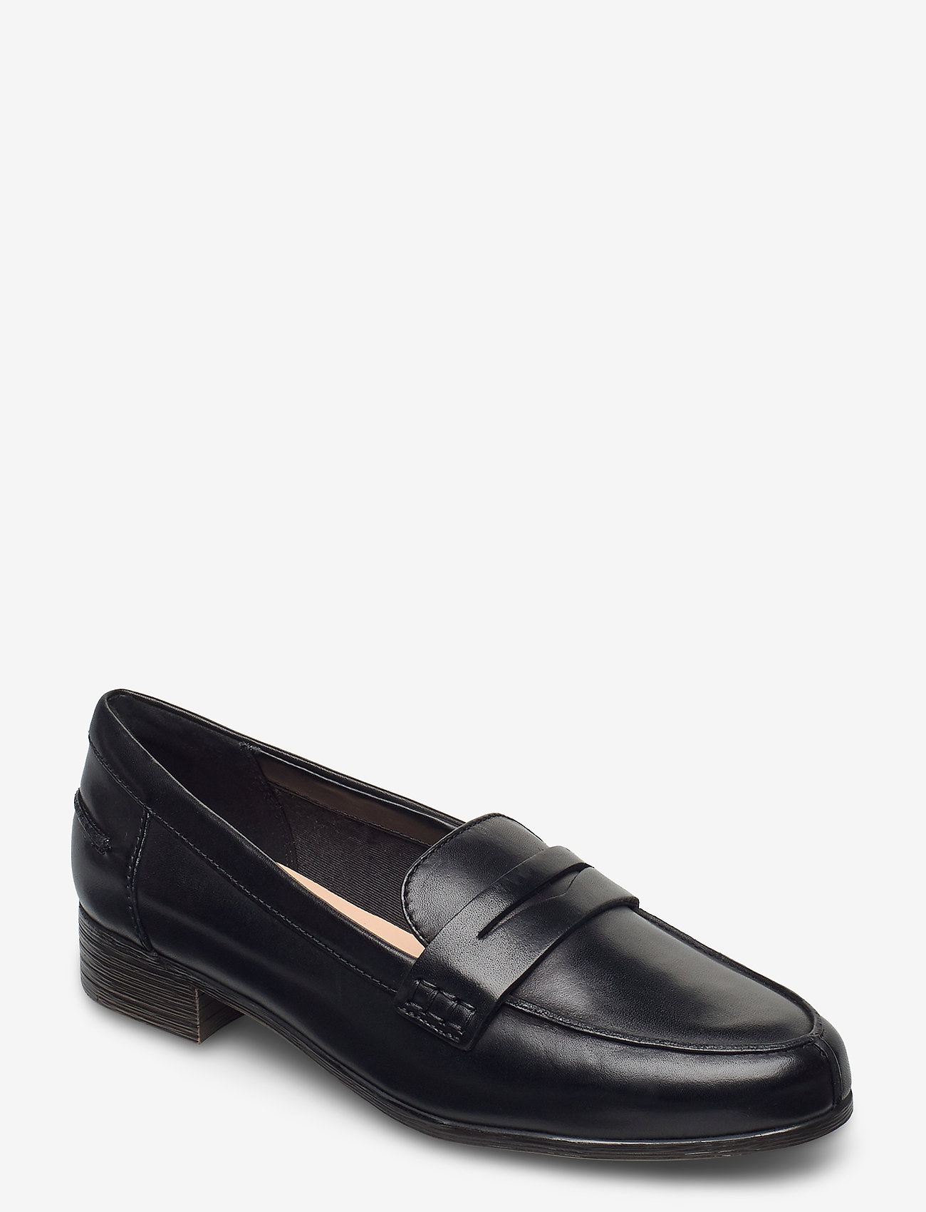 Clarks - Hamble Loafer - mokasiner - black leather - 0