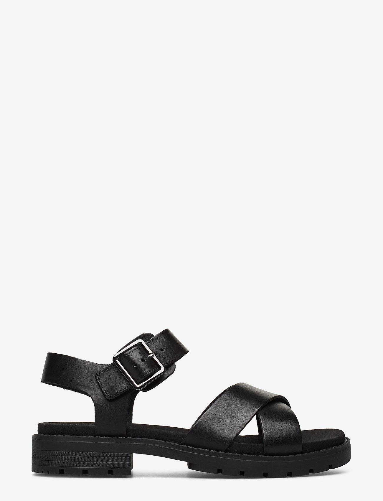 Clarks - Orinoco Strap - platta sandaler - black leather - 1