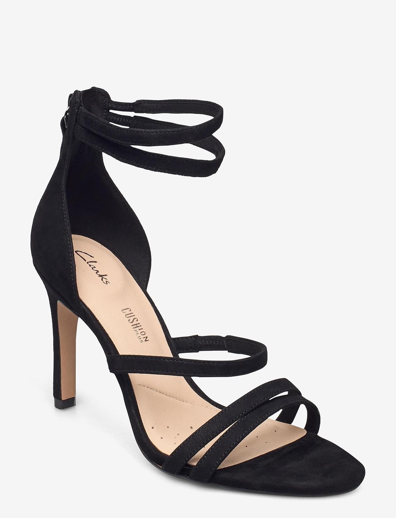 Clarks - Curtain Strap - högklackade sandaler - black sde - 0