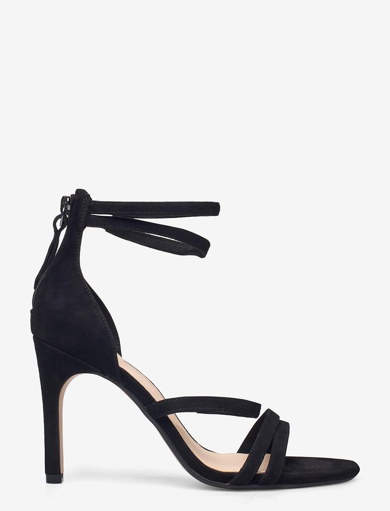 Clarks - Curtain Strap - högklackade sandaler - black sde - 1