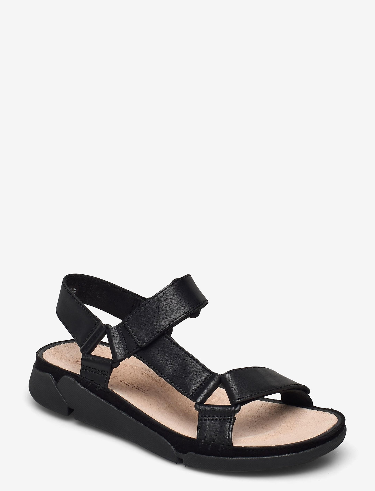 Clarks - Tri Sporty - platta sandaler - black leather - 0