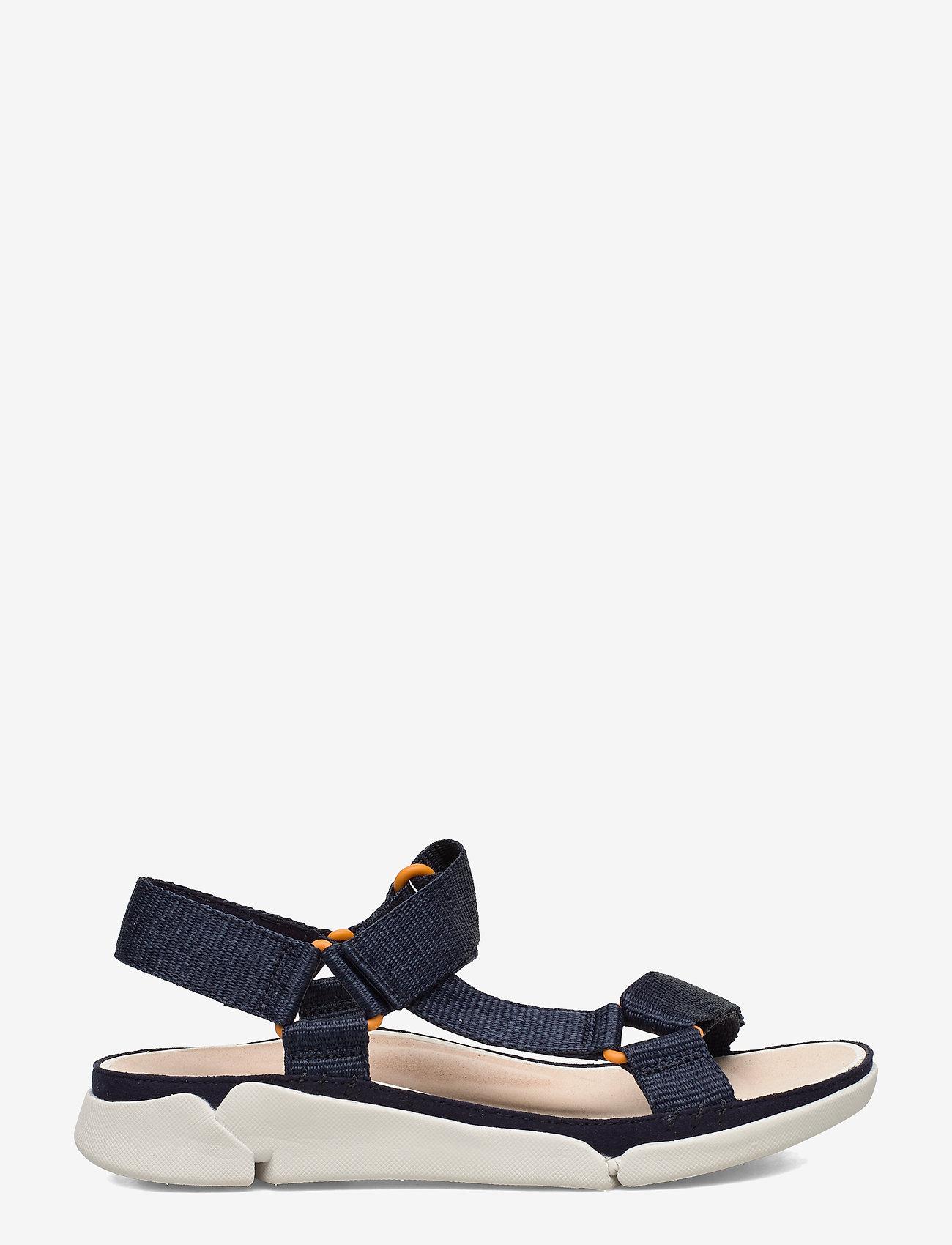 Clarks - Tri Sporty - platta sandaler - navy textile - 1