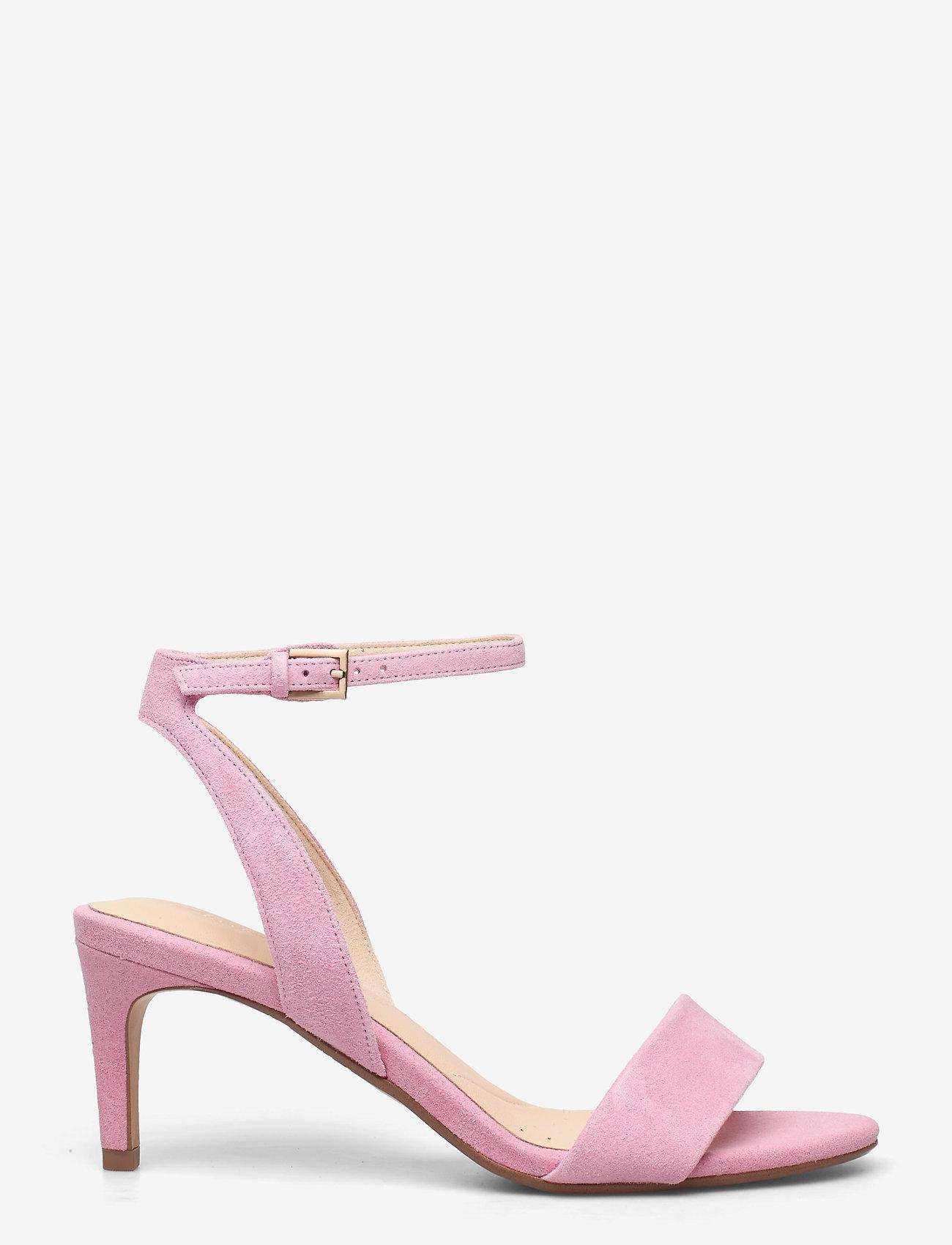 Clarks - Amali Jewel - högklackade sandaler - pink suede - 1
