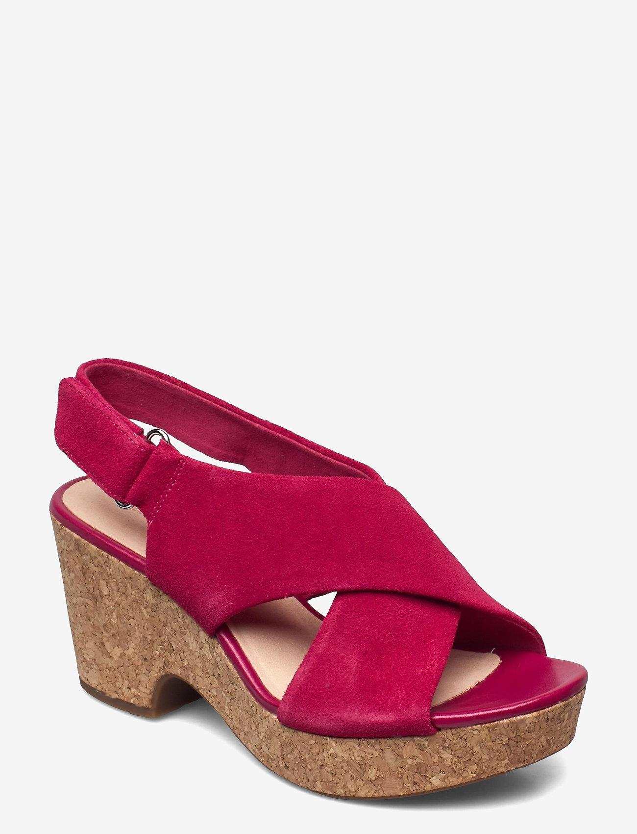 Clarks - Maritsa Lara - högklackade sandaler - fuchsia suede - 0