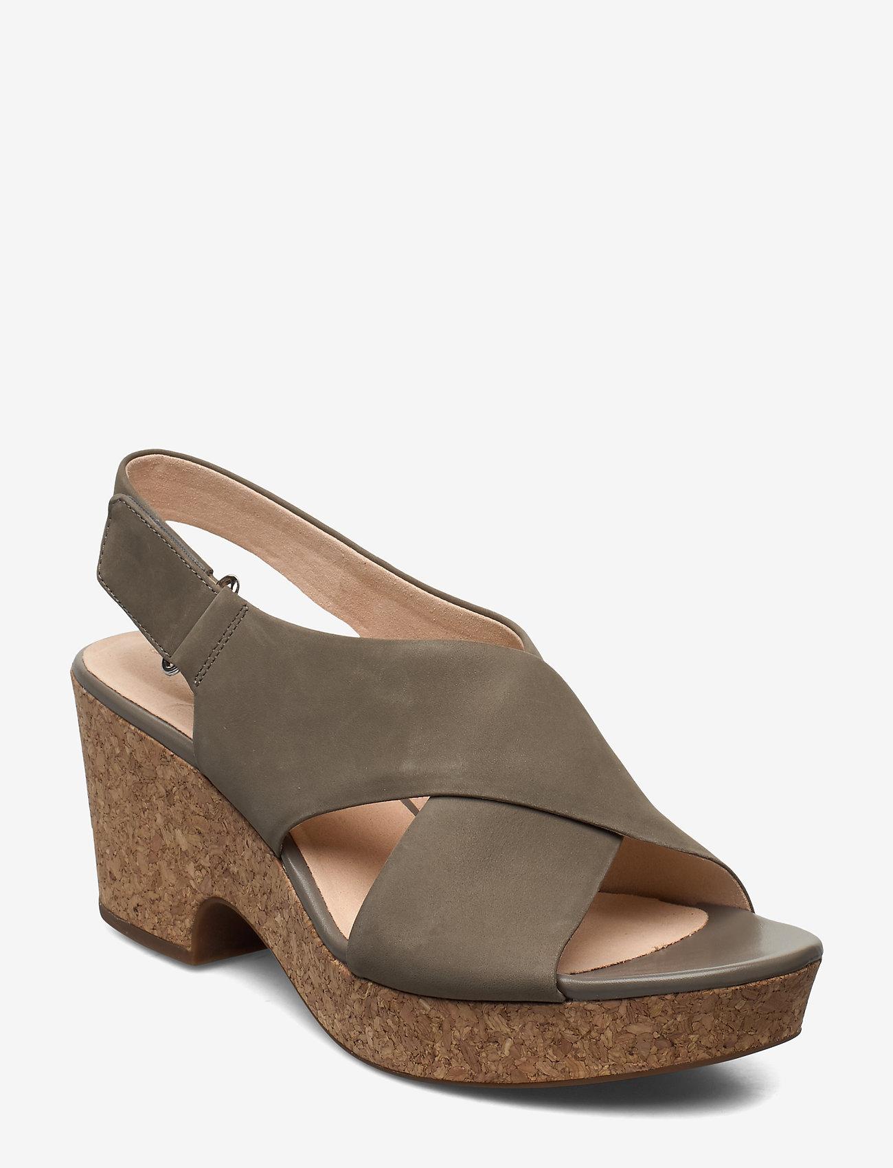 Clarks - Maritsa Lara - högklackade sandaler - sage nubuck - 1