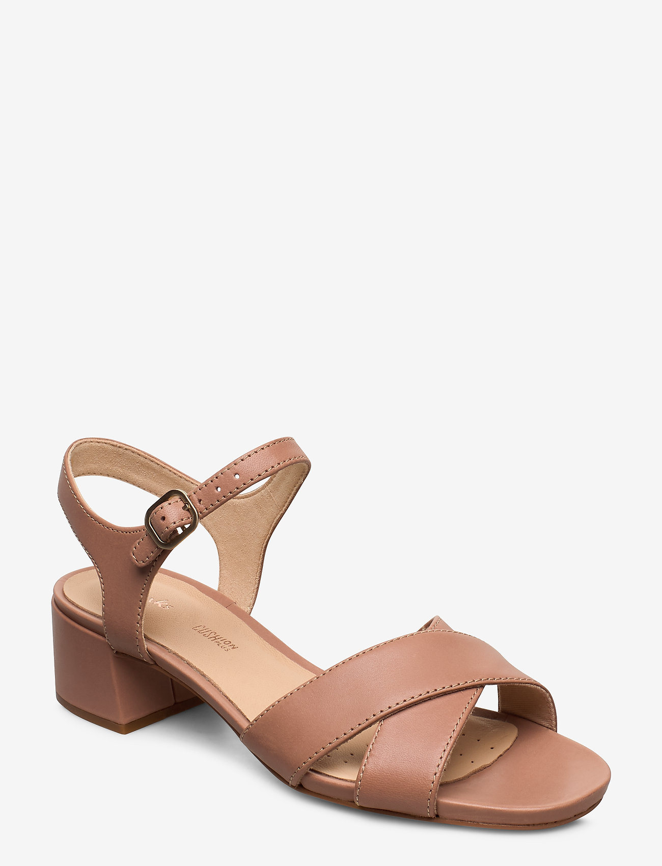 Clarks - Sheer35 Strap - högklackade sandaler - praline leather - 0