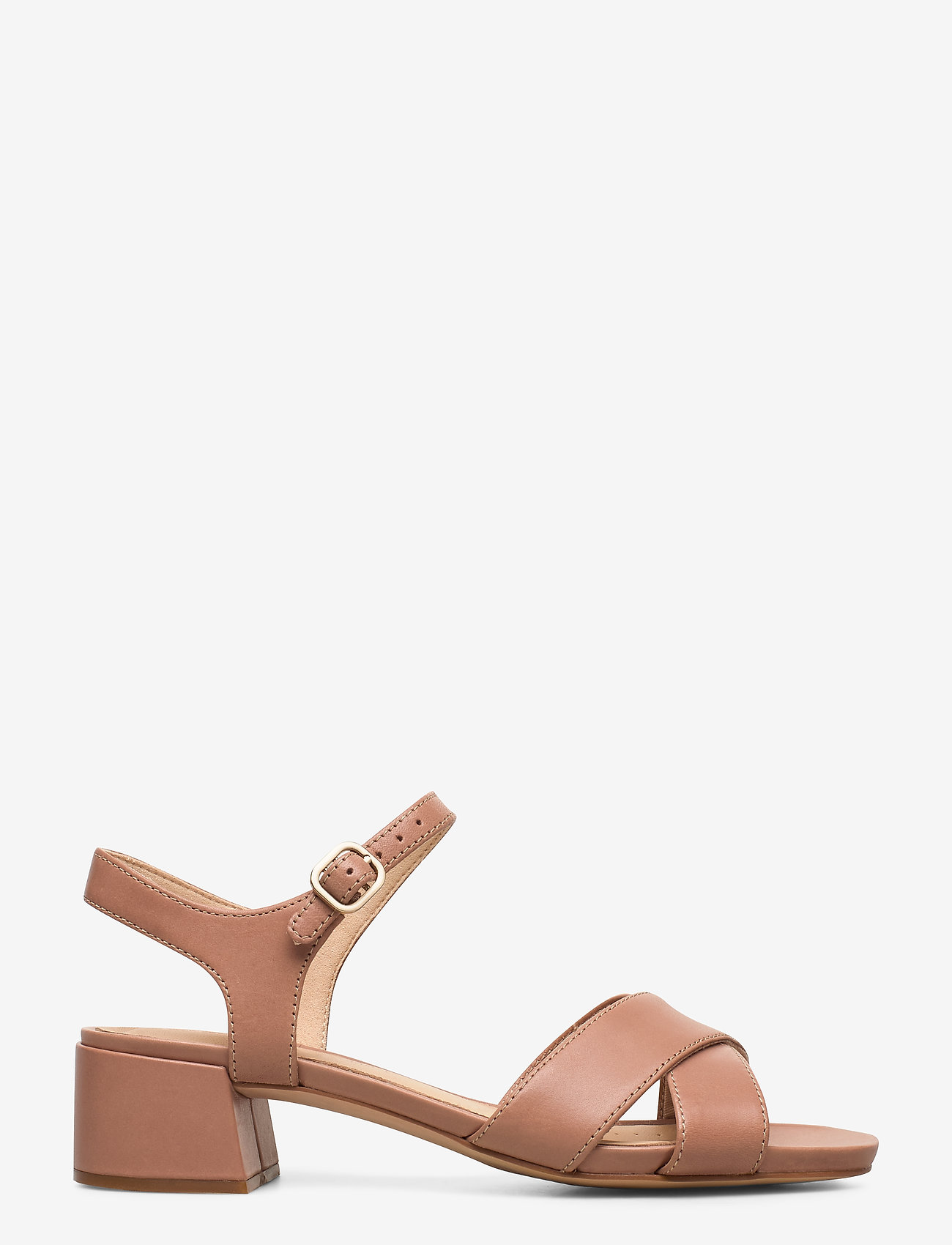 Clarks - Sheer35 Strap - högklackade sandaler - praline leather - 1