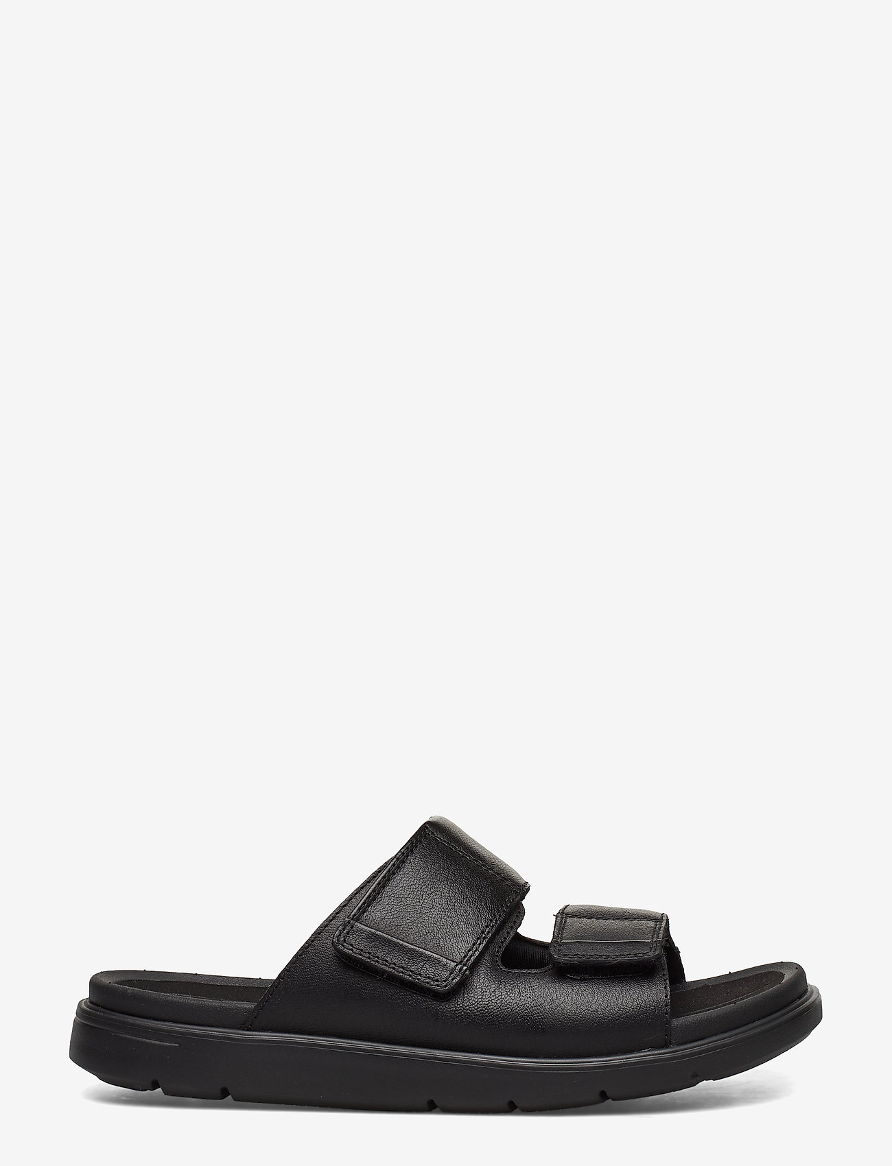 Clarks - UnWilmore Part - pool sliders - black leather - 1