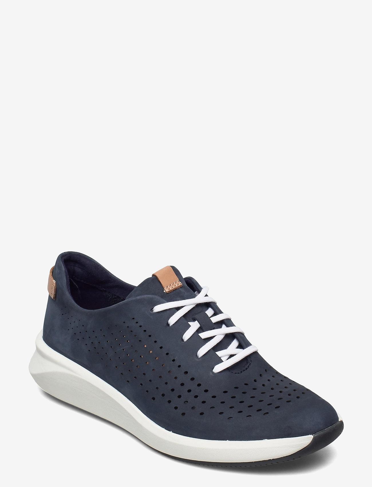 Clarks - Un Rio Tie - låga sneakers - navy nubuck - 0