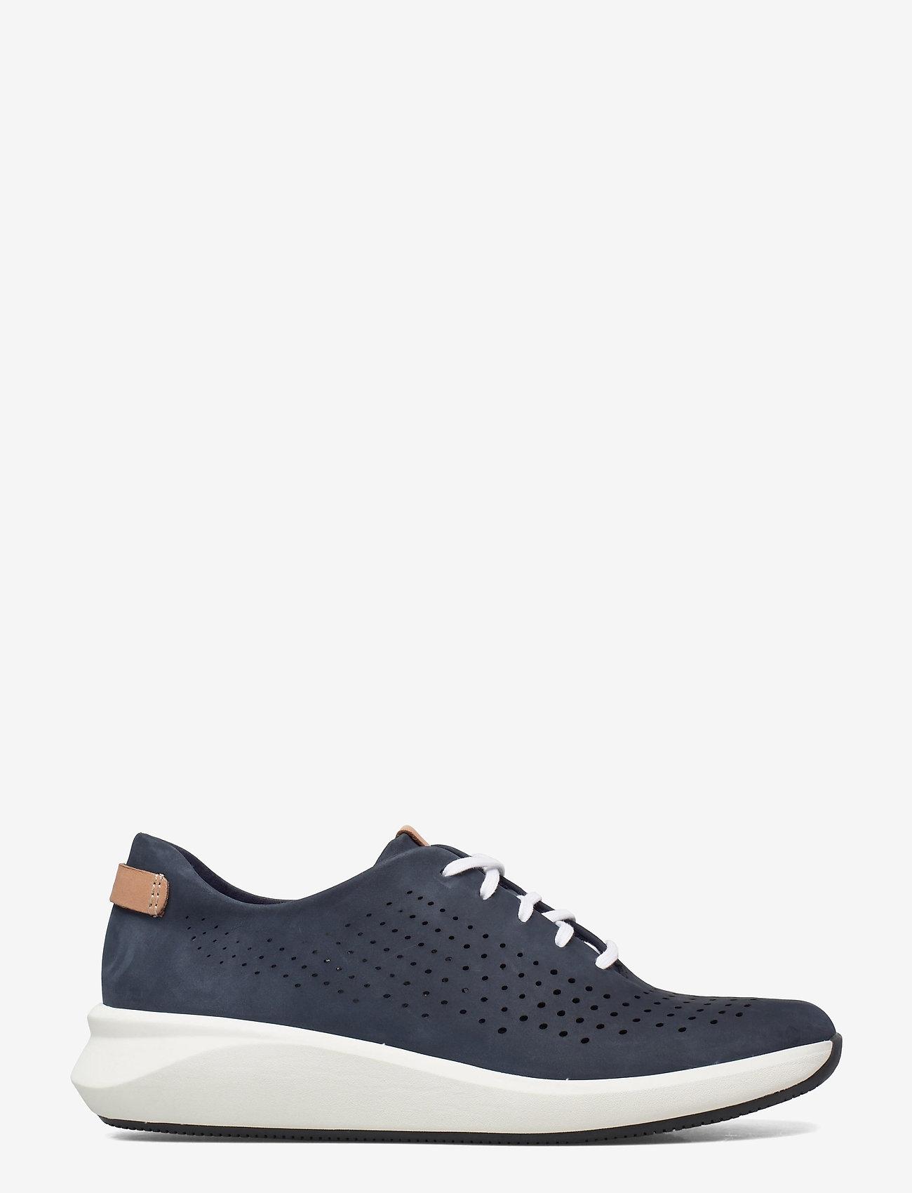 Clarks - Un Rio Tie - låga sneakers - navy nubuck - 1