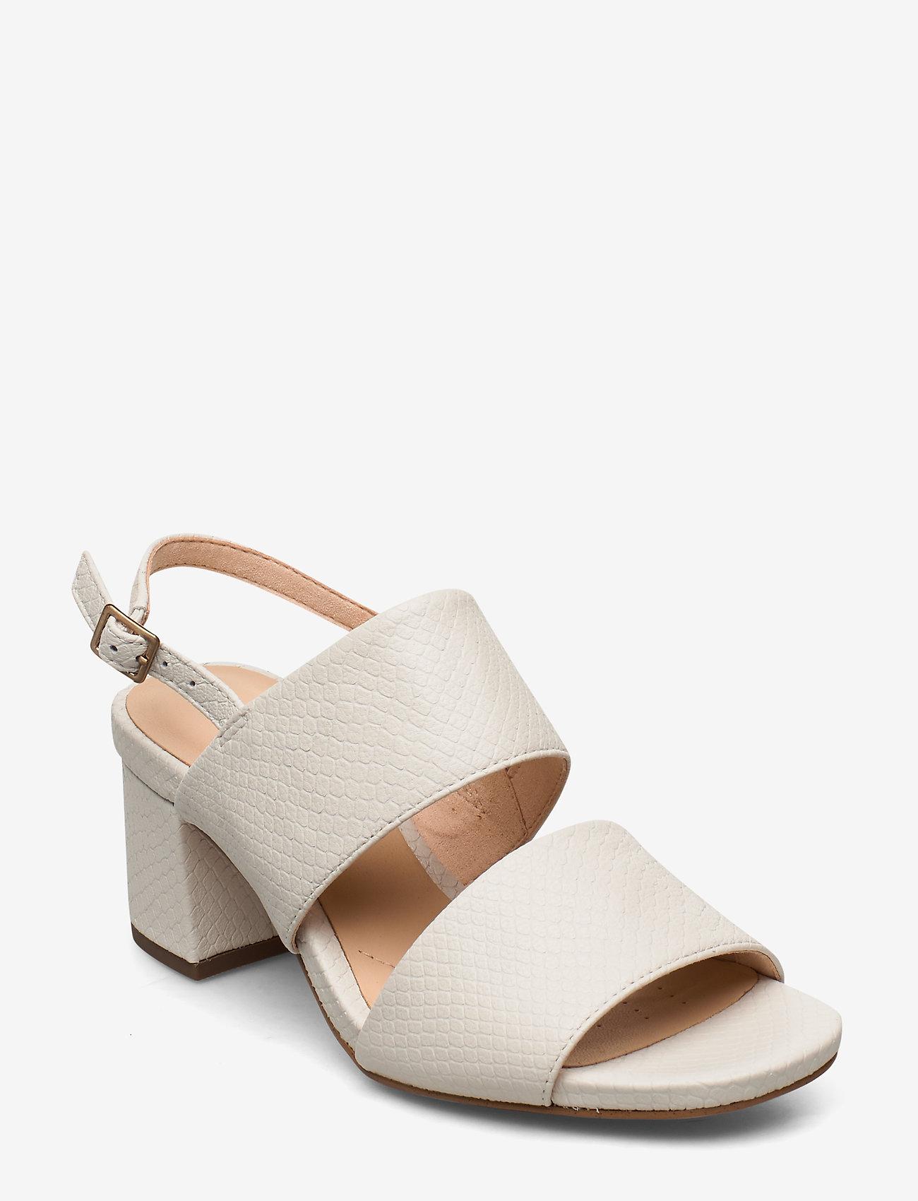 Clarks - Sheer55 Sling - høyhælte sandaler - white snake - 0