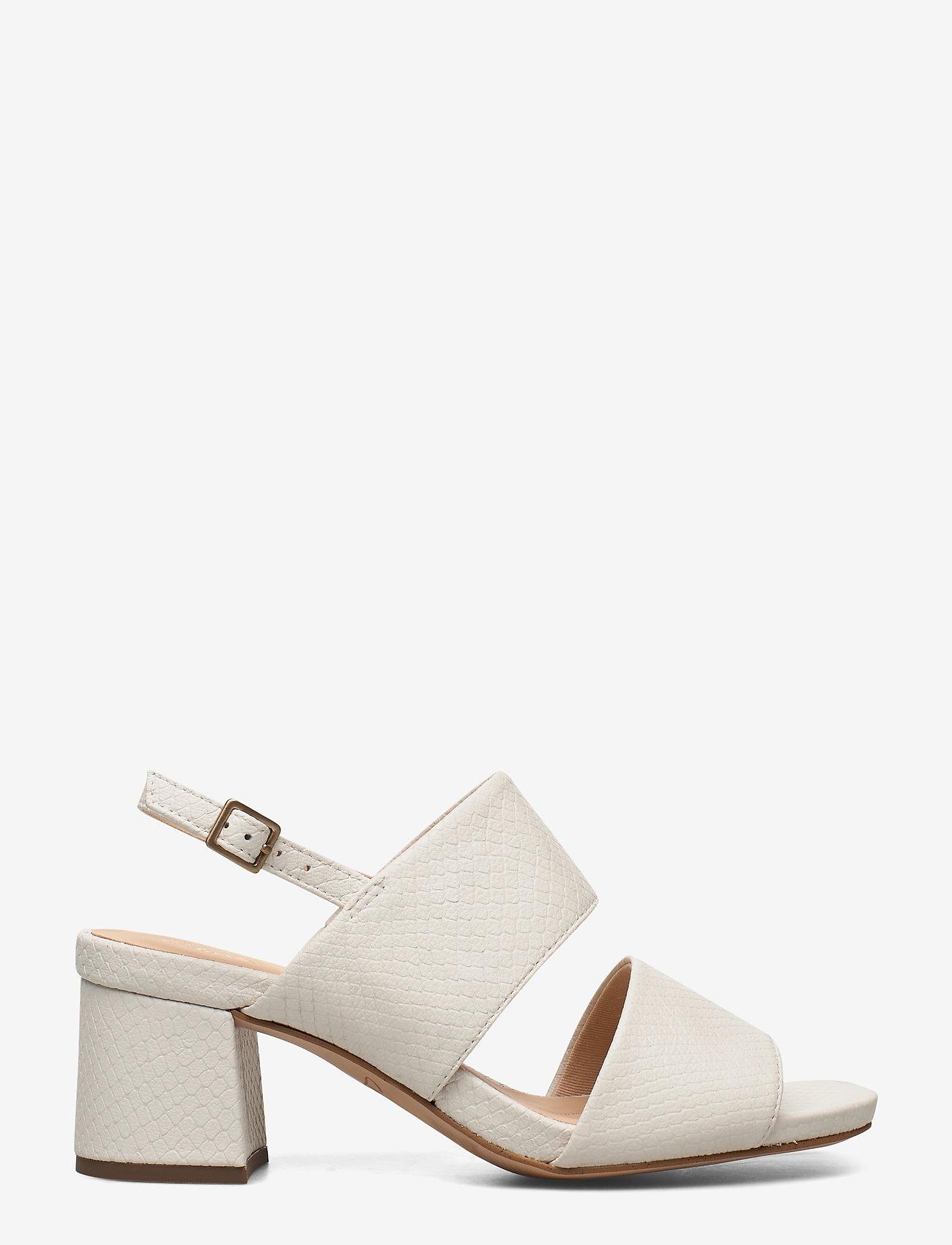 Clarks - Sheer55 Sling - høyhælte sandaler - white snake - 1