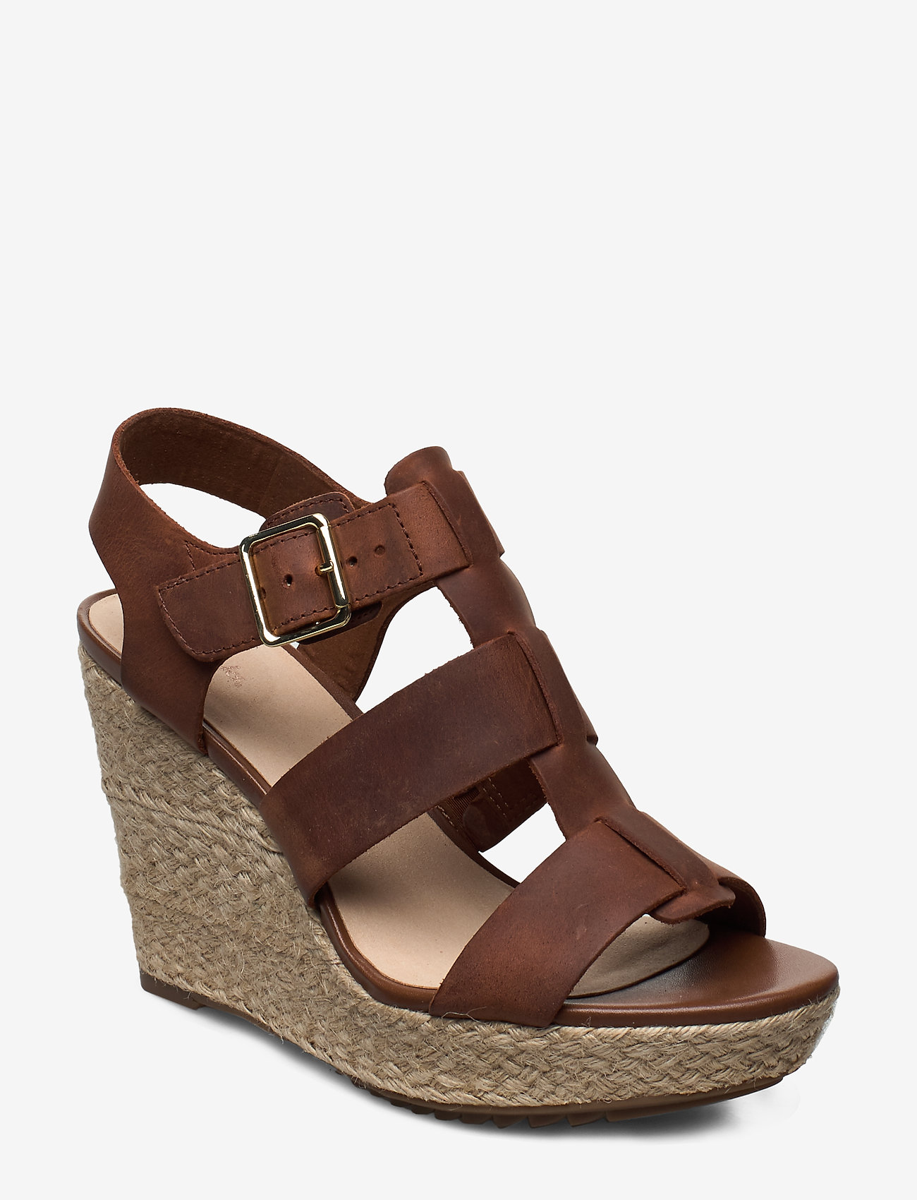 Clarks - Maritsa95 Glad - espadrilles met sleehak - tan leather - 0