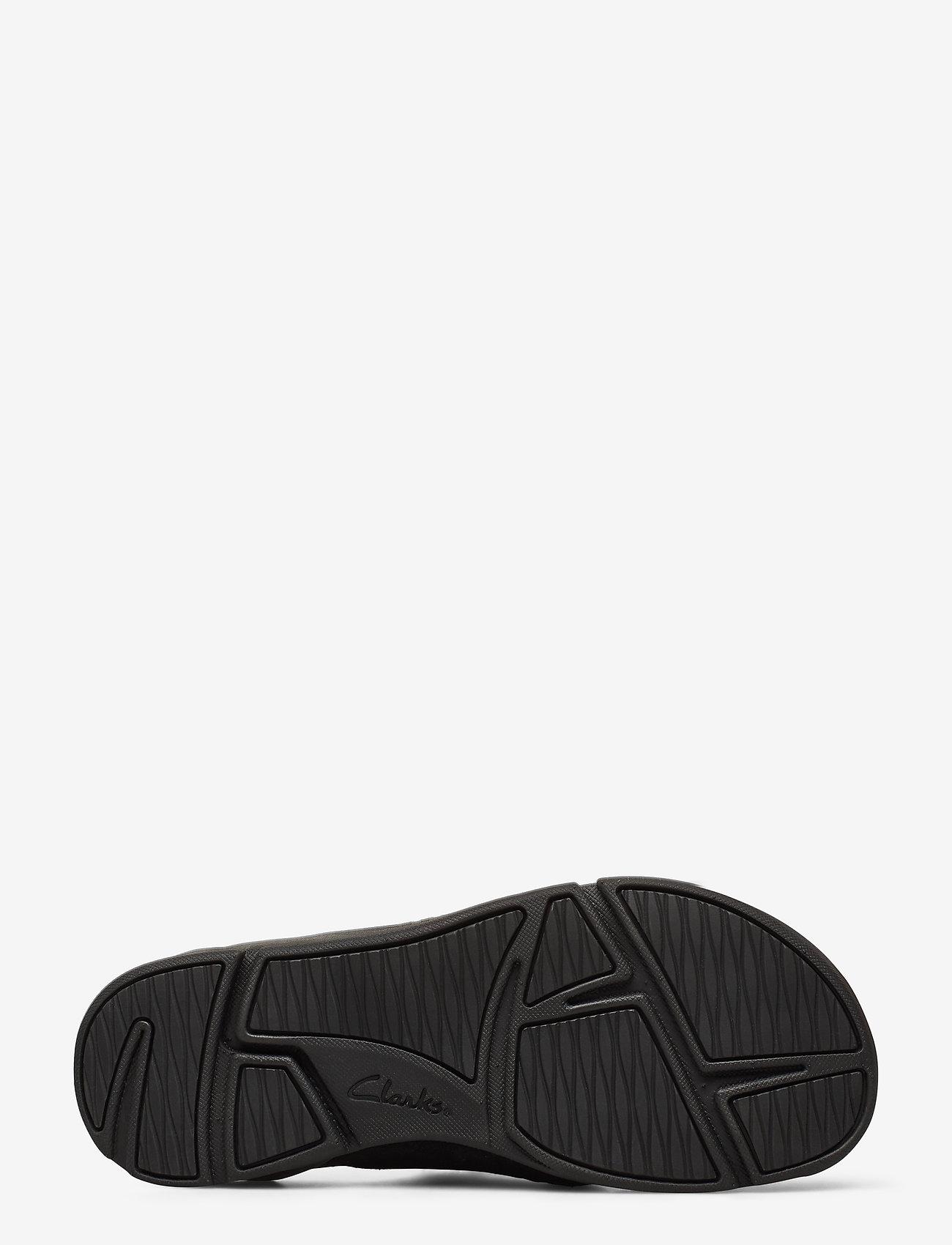 Tri Toe Post (Black Leather) - Clarks