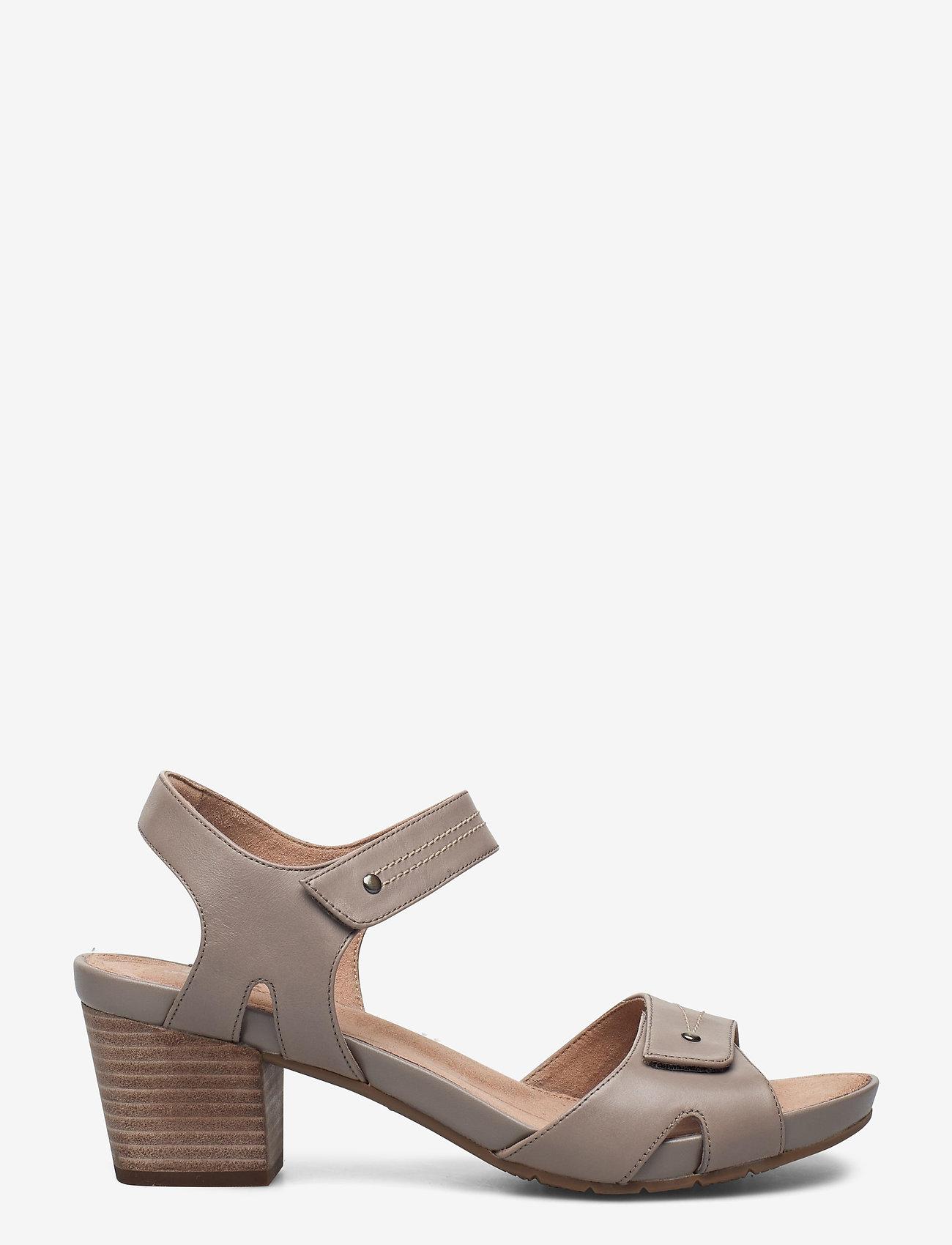 Clarks - Un Palma Vibe - högklackade sandaler - taupe leather - 1