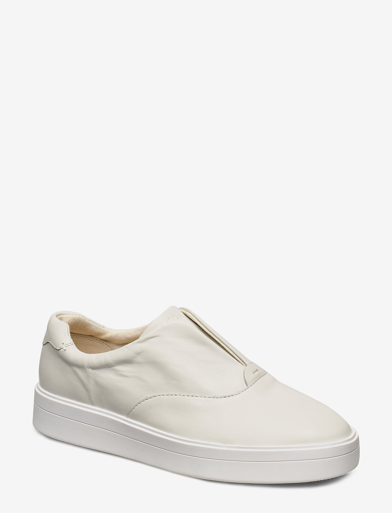 Clarks - Hero Step. - slip-on sneakers - white leather - 0