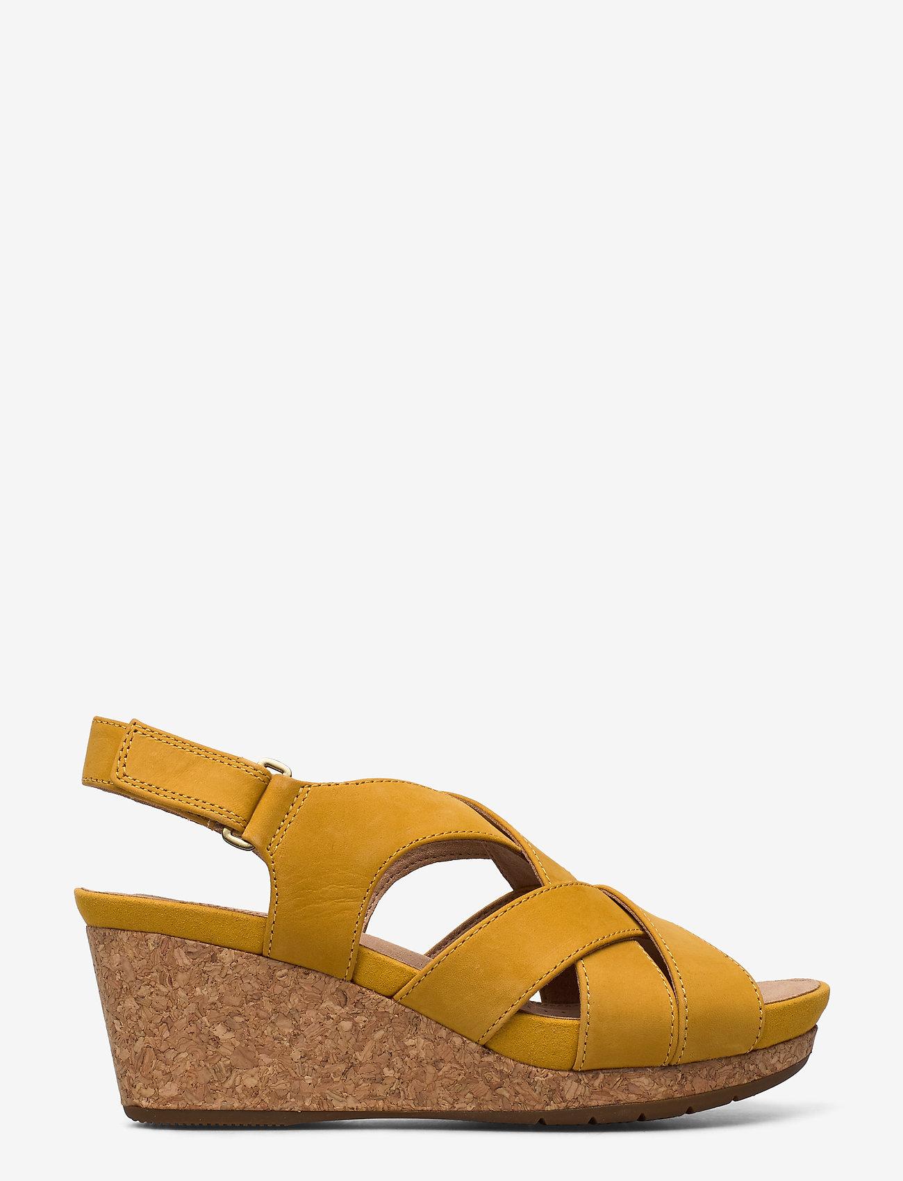 Clarks - Un Capri Step - compensées - yellow nubuck - 1