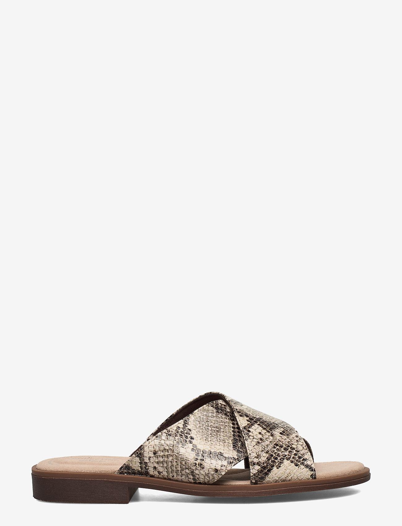 Clarks - Declan Ivy - flate sandaler - taupe snake - 1