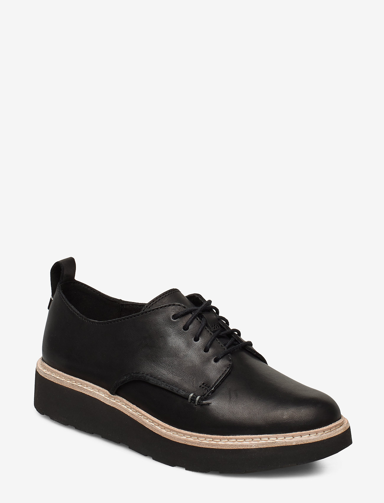 Clarks - Trace Walk - snøresko - black leather - 0