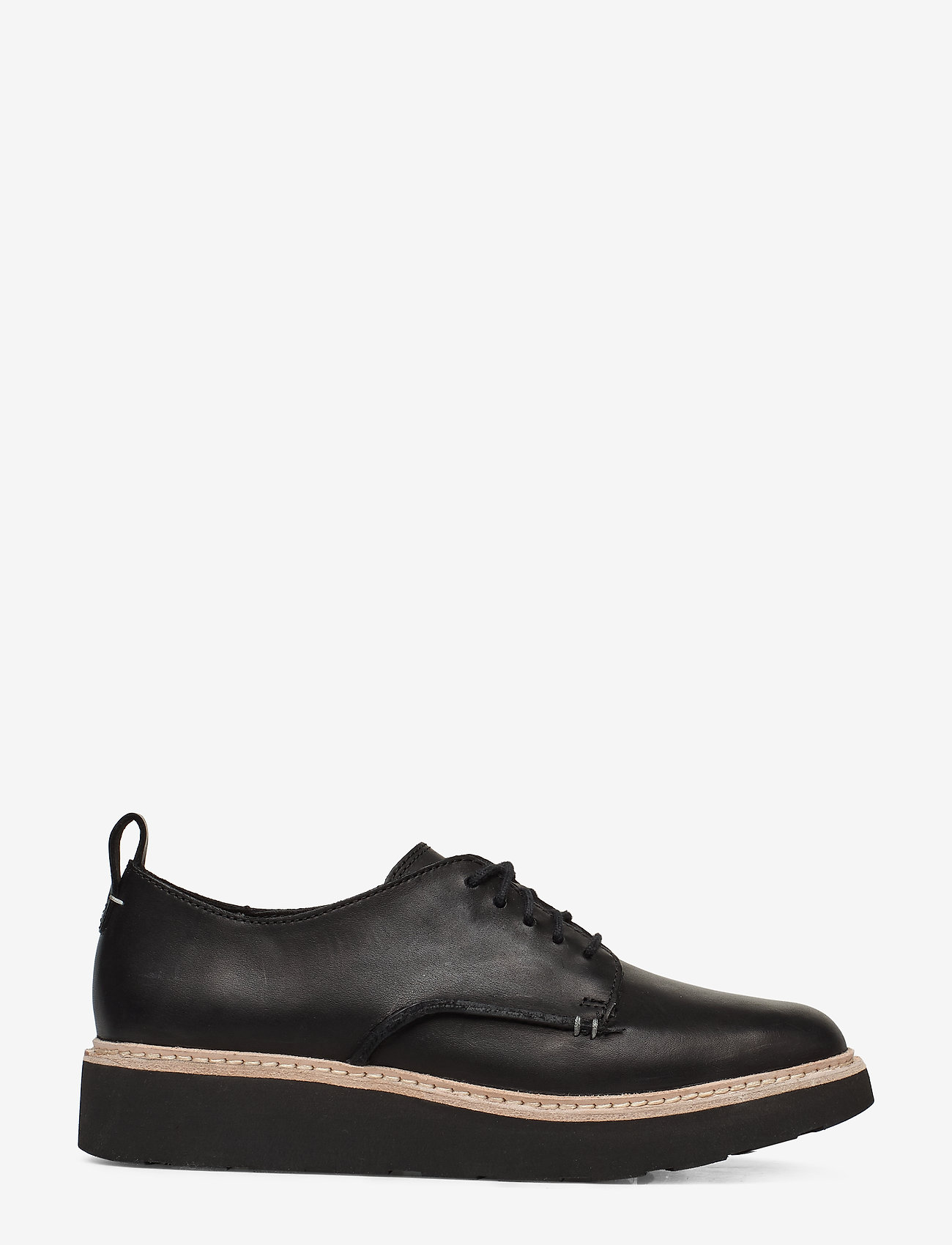 Clarks - Trace Walk - snøresko - black leather - 1