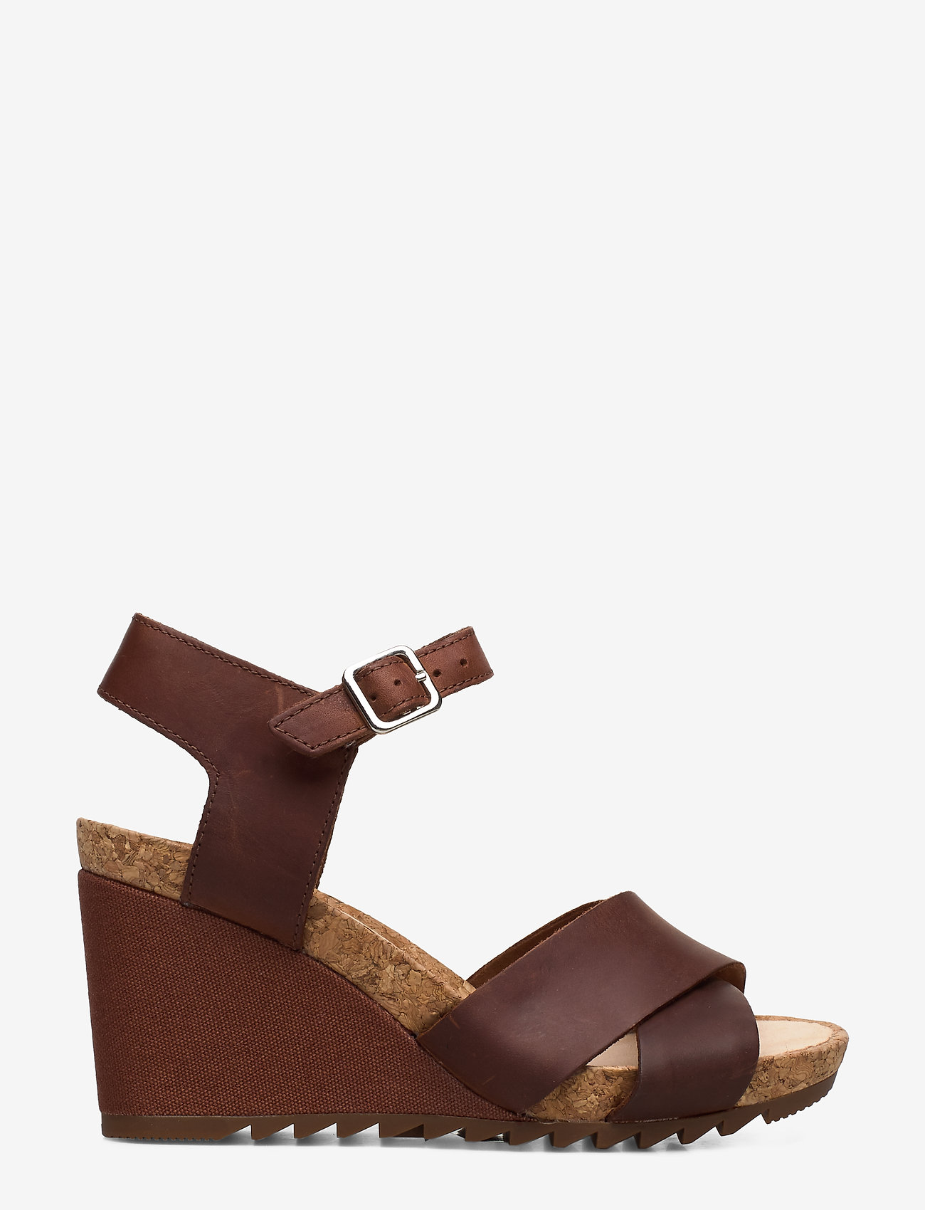 Clarks - Flex Sun - högklackade sandaler - tan leather - 1