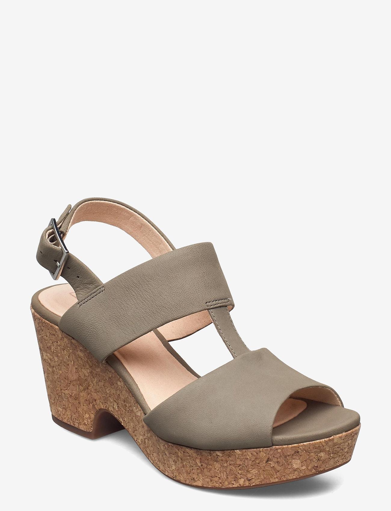 Clarks - Maritsa Glad - högklackade sandaler - sage suede - 0