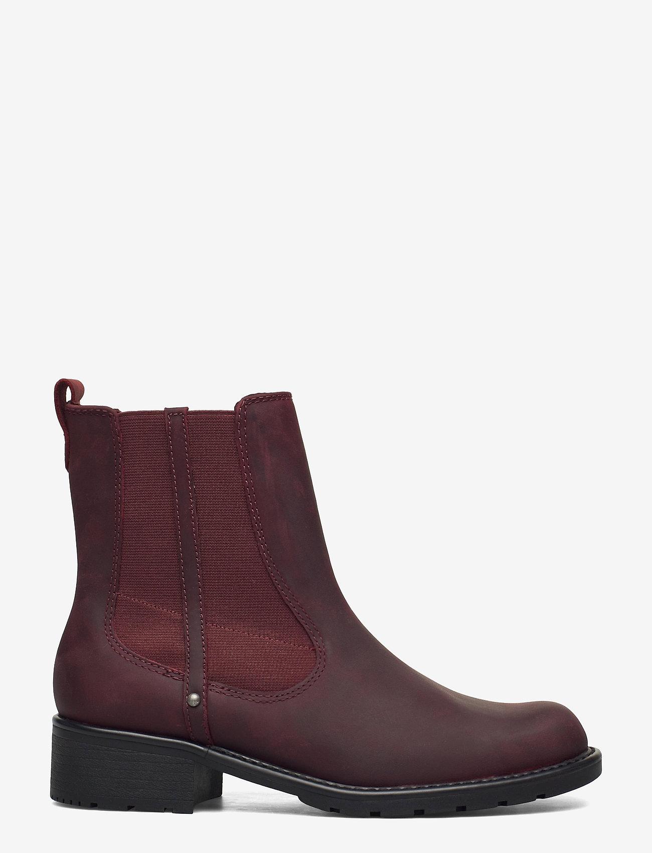 Clarks - Orinoco Club - chelsea boots - merlot leather - 1