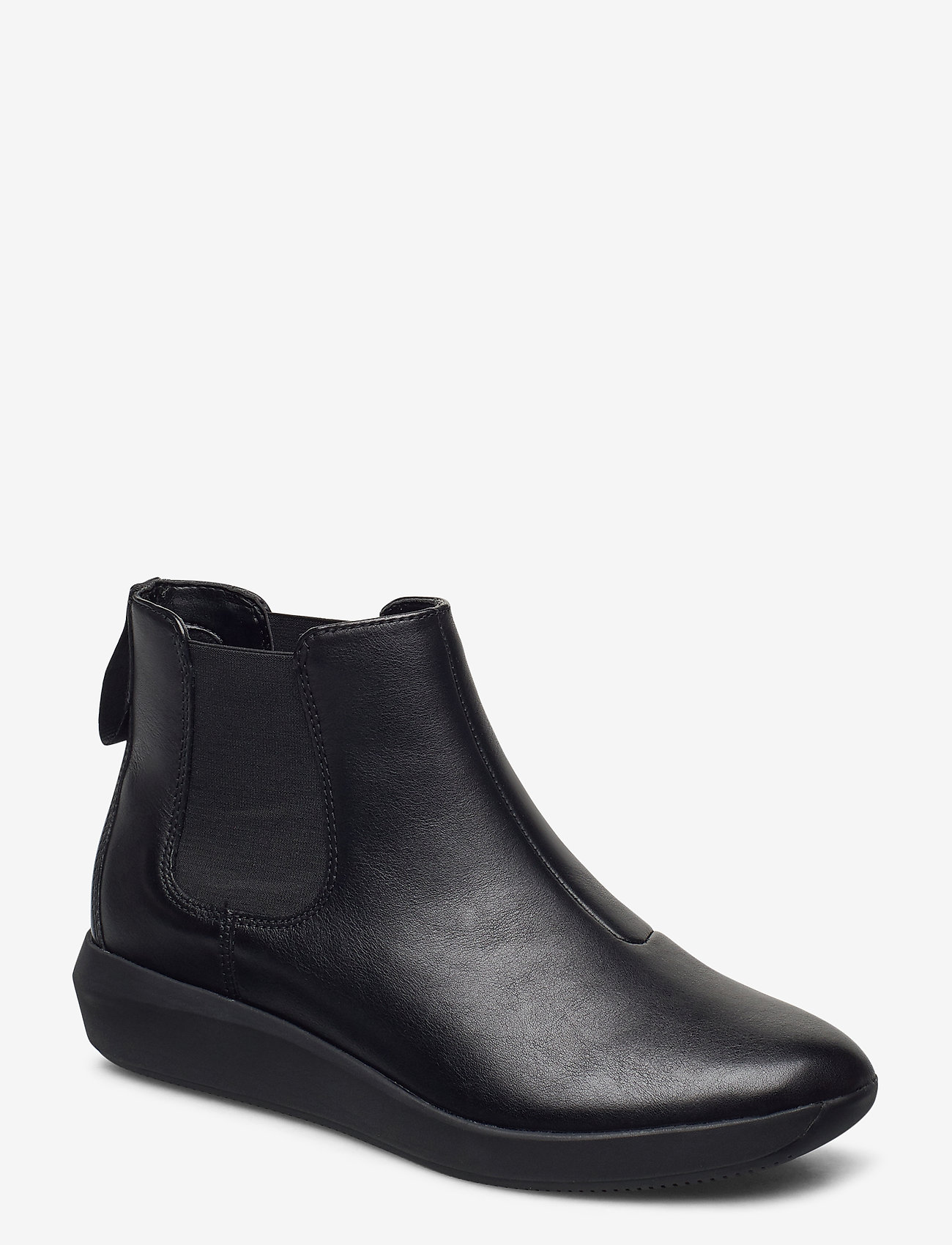 Clarks - Tawnia Mid - platta ankelboots - black leather - 0