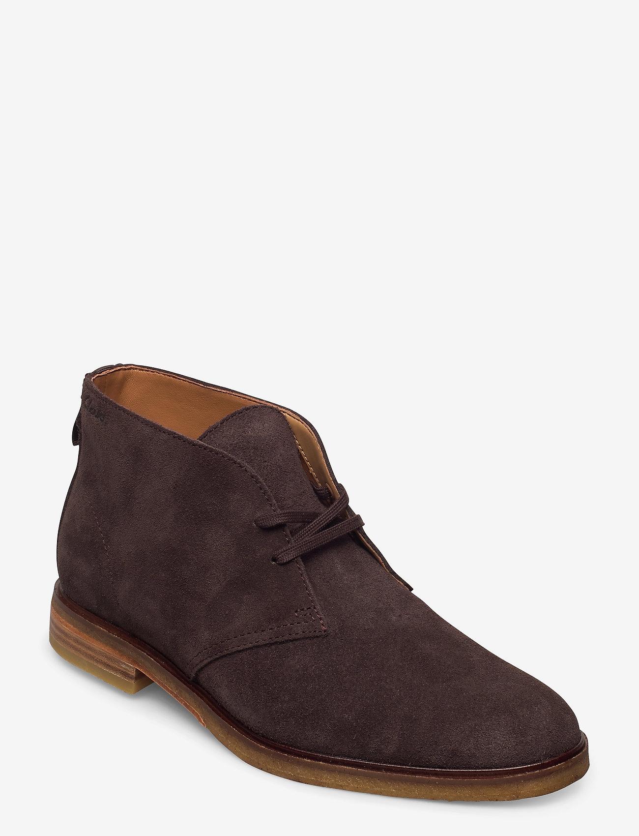 Clarks - Clarkdale DBT - desert boots - dark brown suede - 0