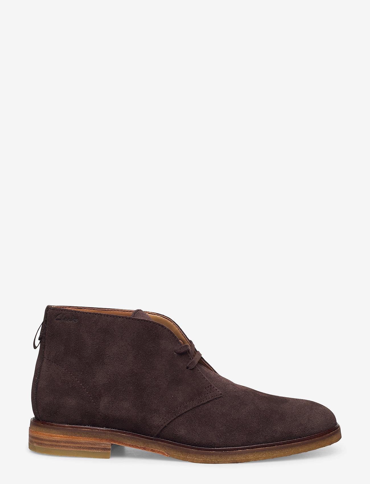 Clarks - Clarkdale DBT - desert boots - dark brown suede - 1