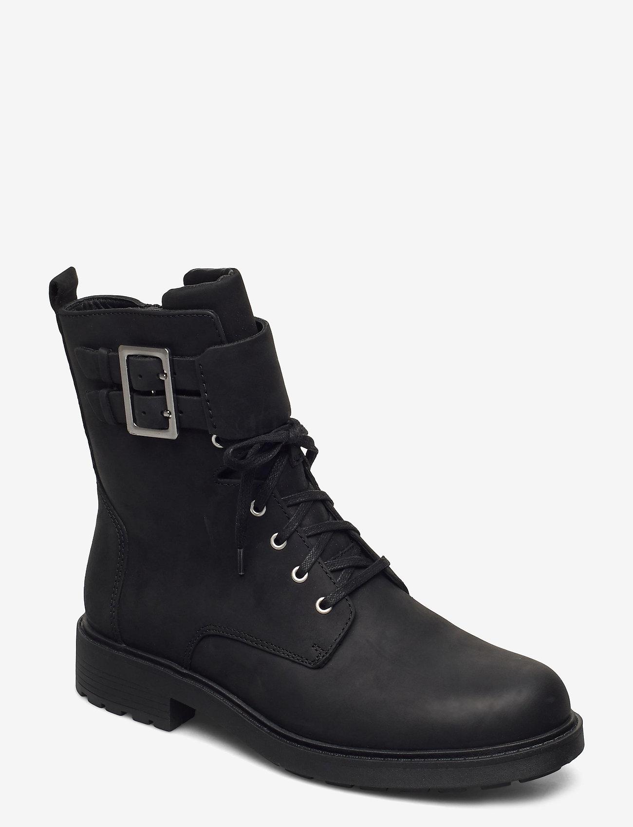 Clarks - Orinoco2 Lace - platte enkellaarsjes - black wlined lea - 0