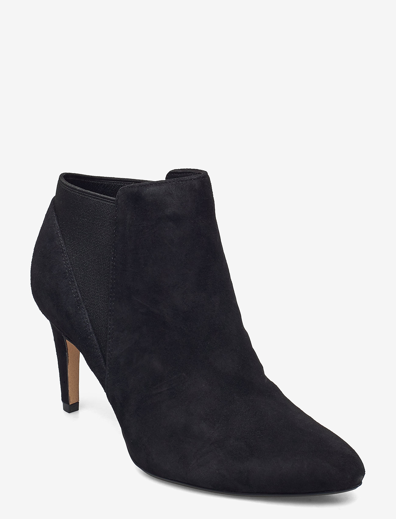Clarks - Laina Violet - ankelstøvletter med hæl - black sde - 0