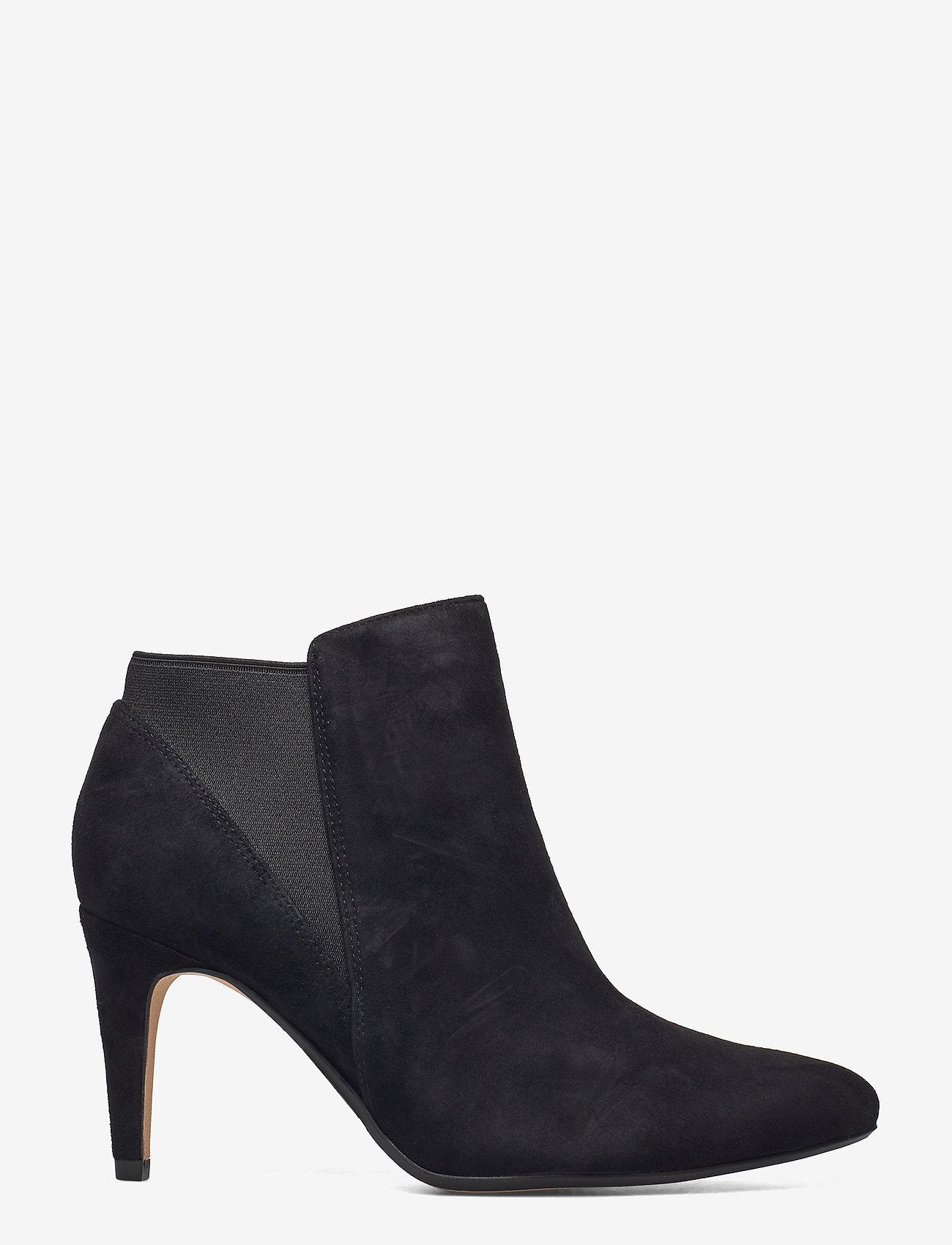 Clarks - Laina Violet - ankelstøvletter med hæl - black sde - 1