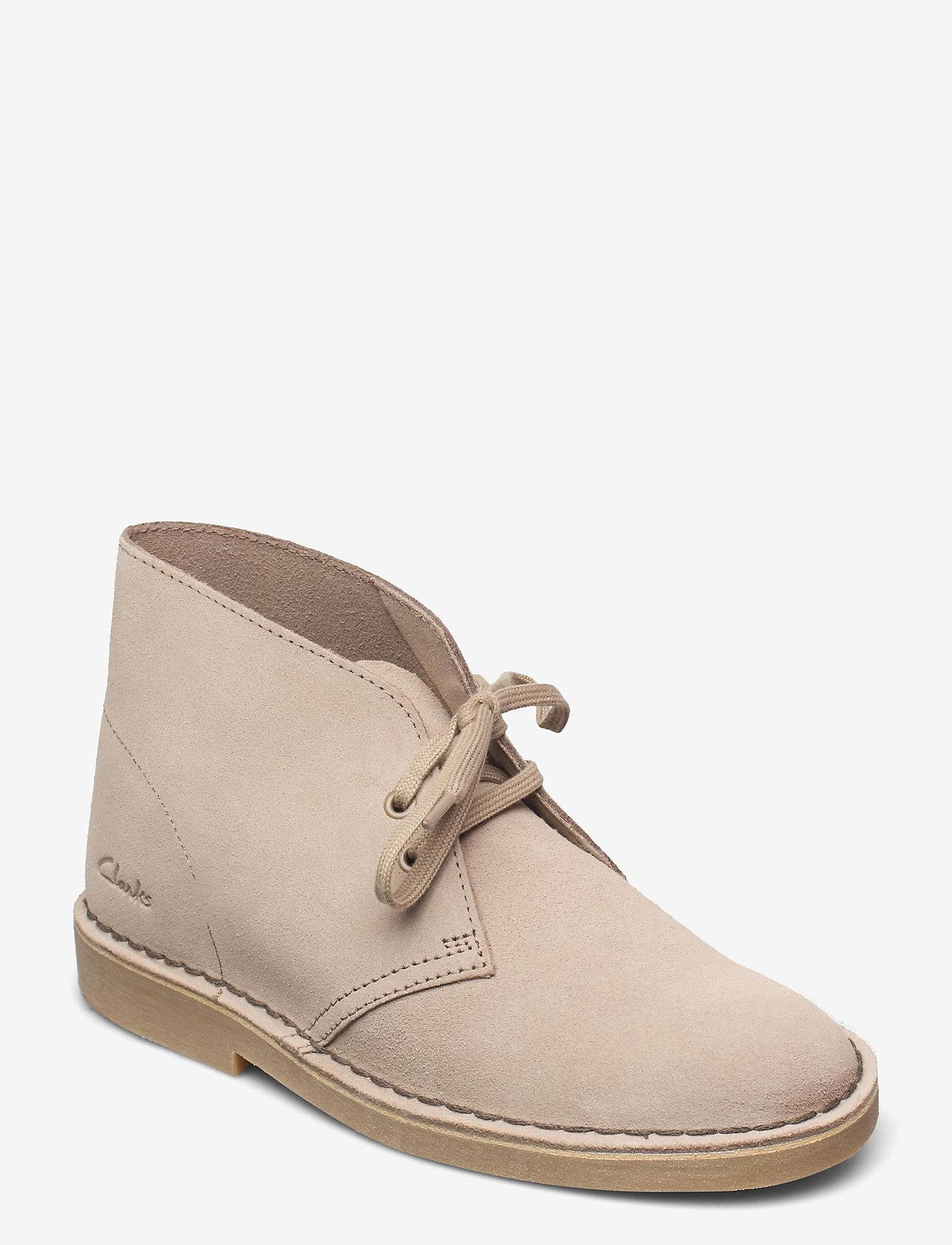 Clarks - Desert Boot 2 - platta ankelboots - sand suede - 0