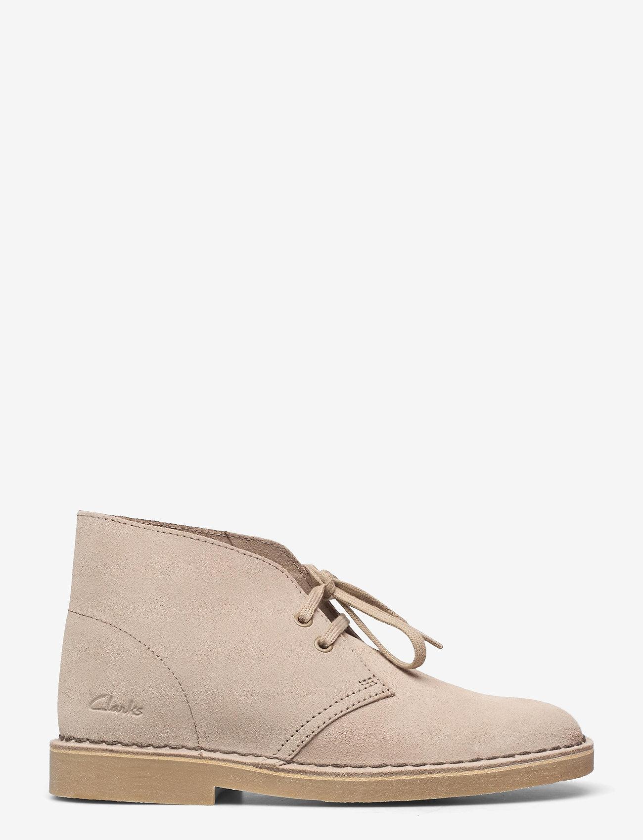 Clarks - Desert Boot 2 - platta ankelboots - sand suede - 1