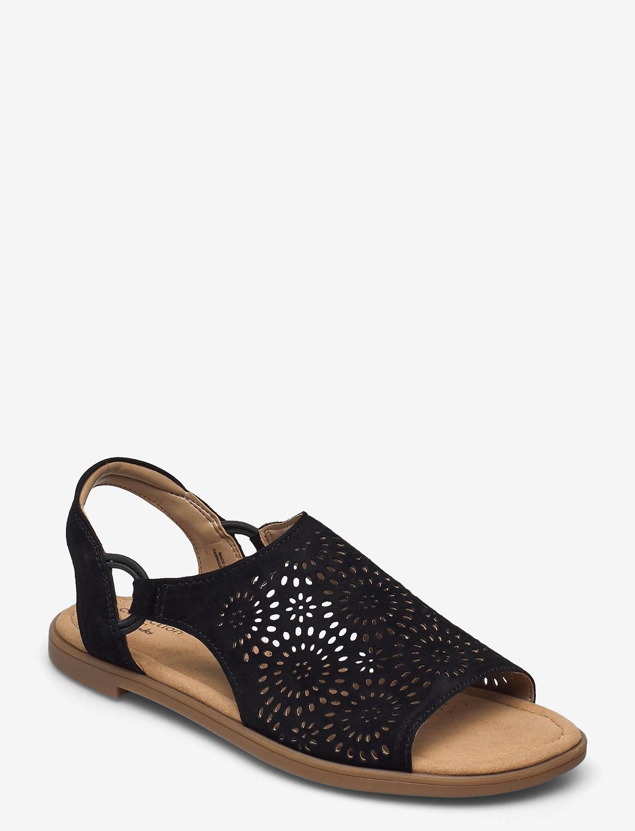 Clarks - Reyna Swirl - platta sandaler - black sde - 0