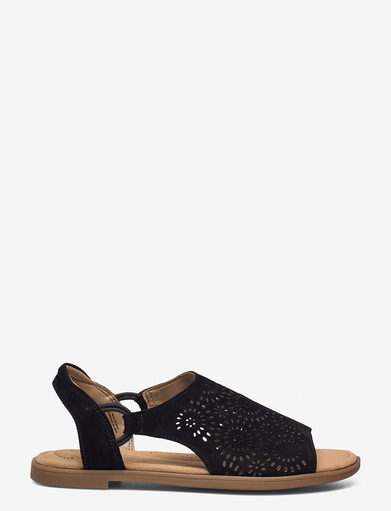 Clarks - Reyna Swirl - platta sandaler - black sde - 1