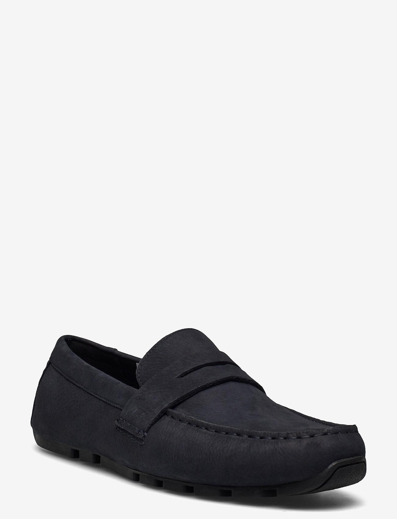 Clarks - Oswick Penny - loafers - navy nubuck - 0