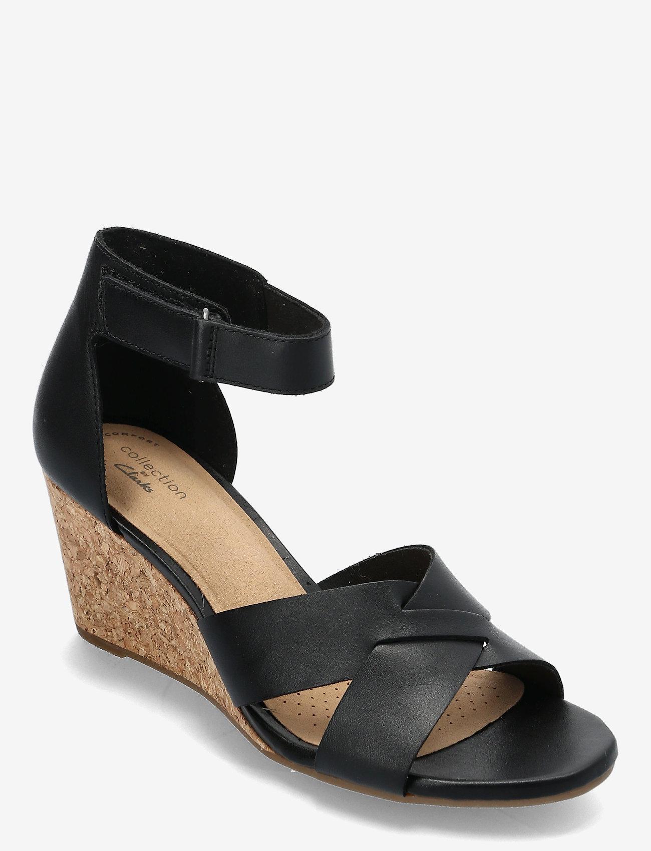Clarks - Margee Gracie - högklackade sandaler - black leather - 0