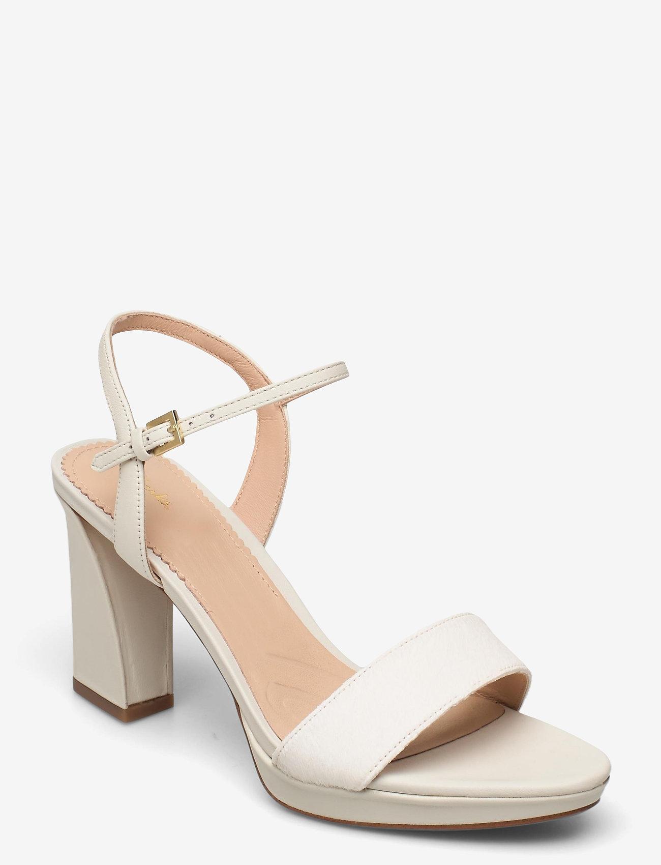 Clarks - Vista Strap - högklackade sandaler - white combi - 0
