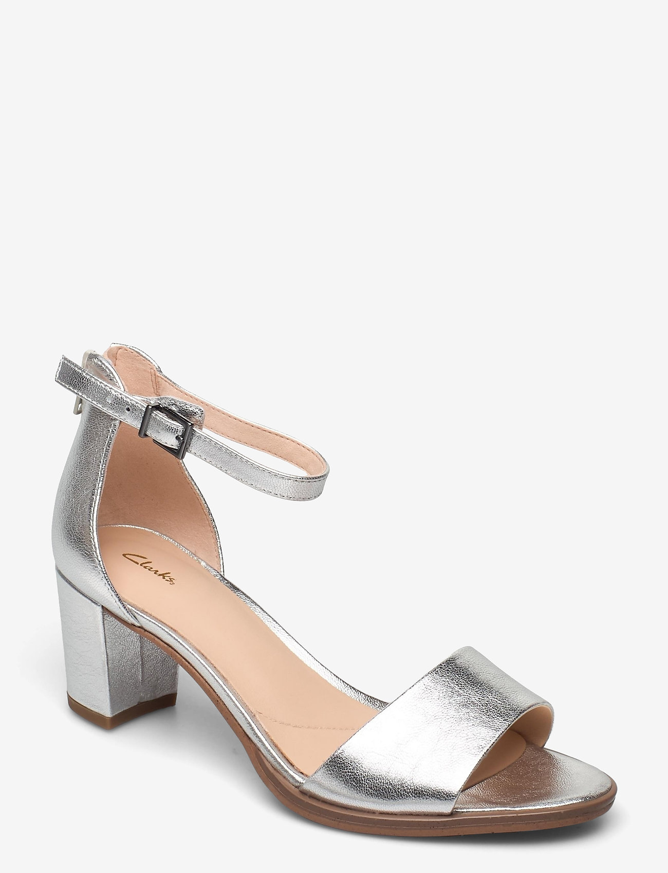 Clarks - Kaylin60 2Part - högklackade sandaler - silver metallic - 0
