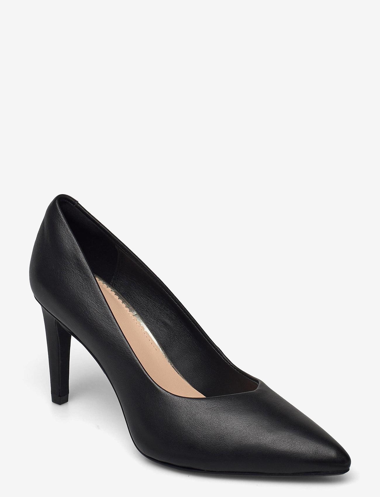 Clarks - Genoa85 Court - klassiska pumps - black leather - 1