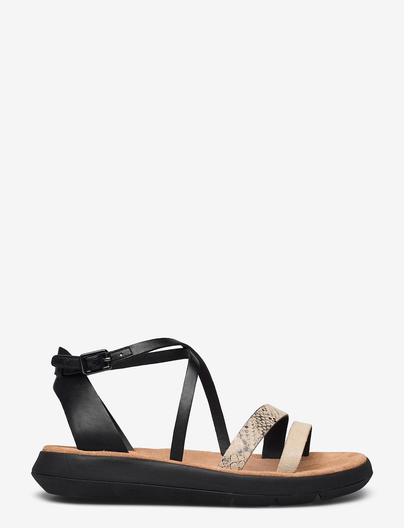 Clarks - Jemsa Strap - platta sandaler - black combi lea - 0