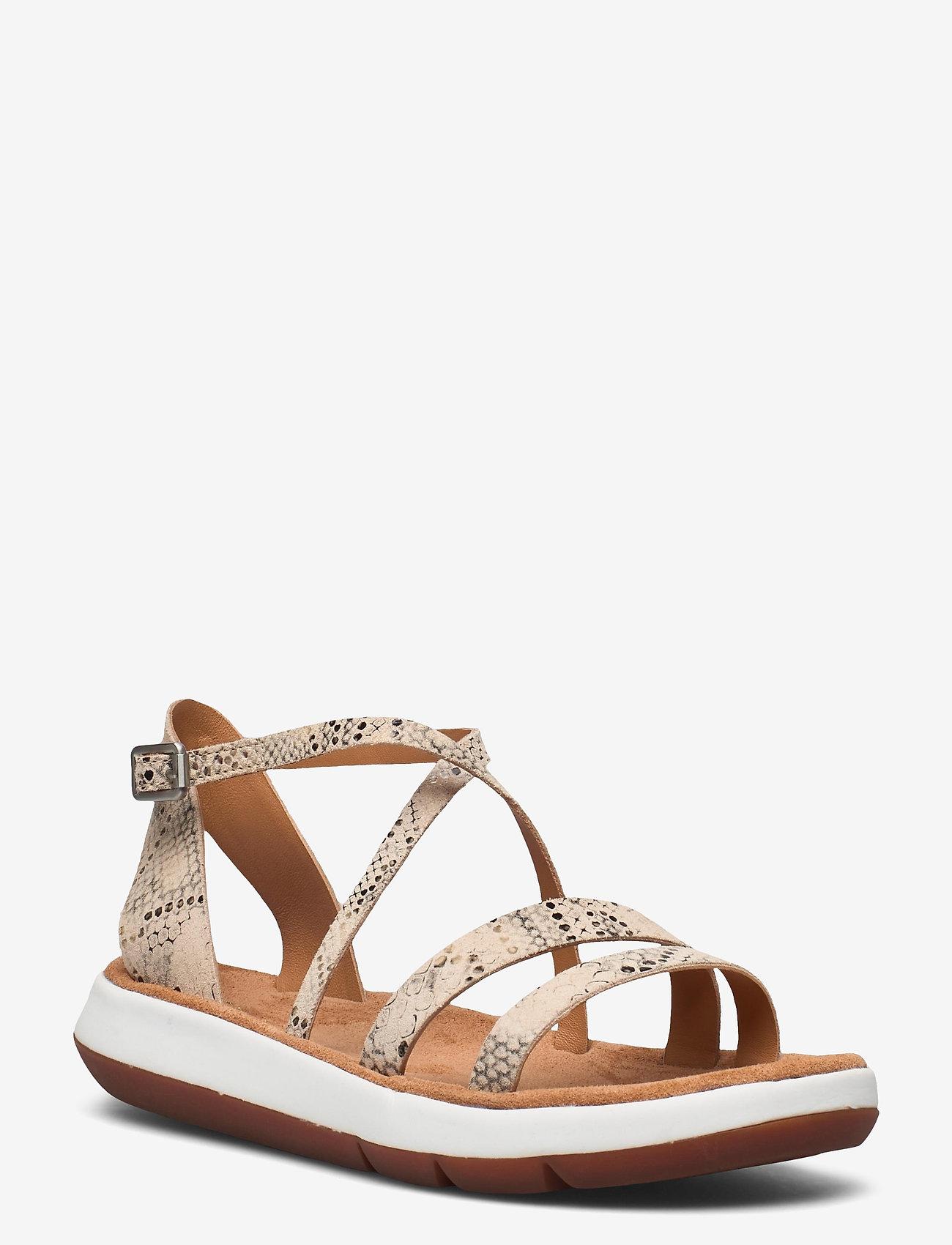 Clarks - Jemsa Strap - platta sandaler - taupe snake - 0