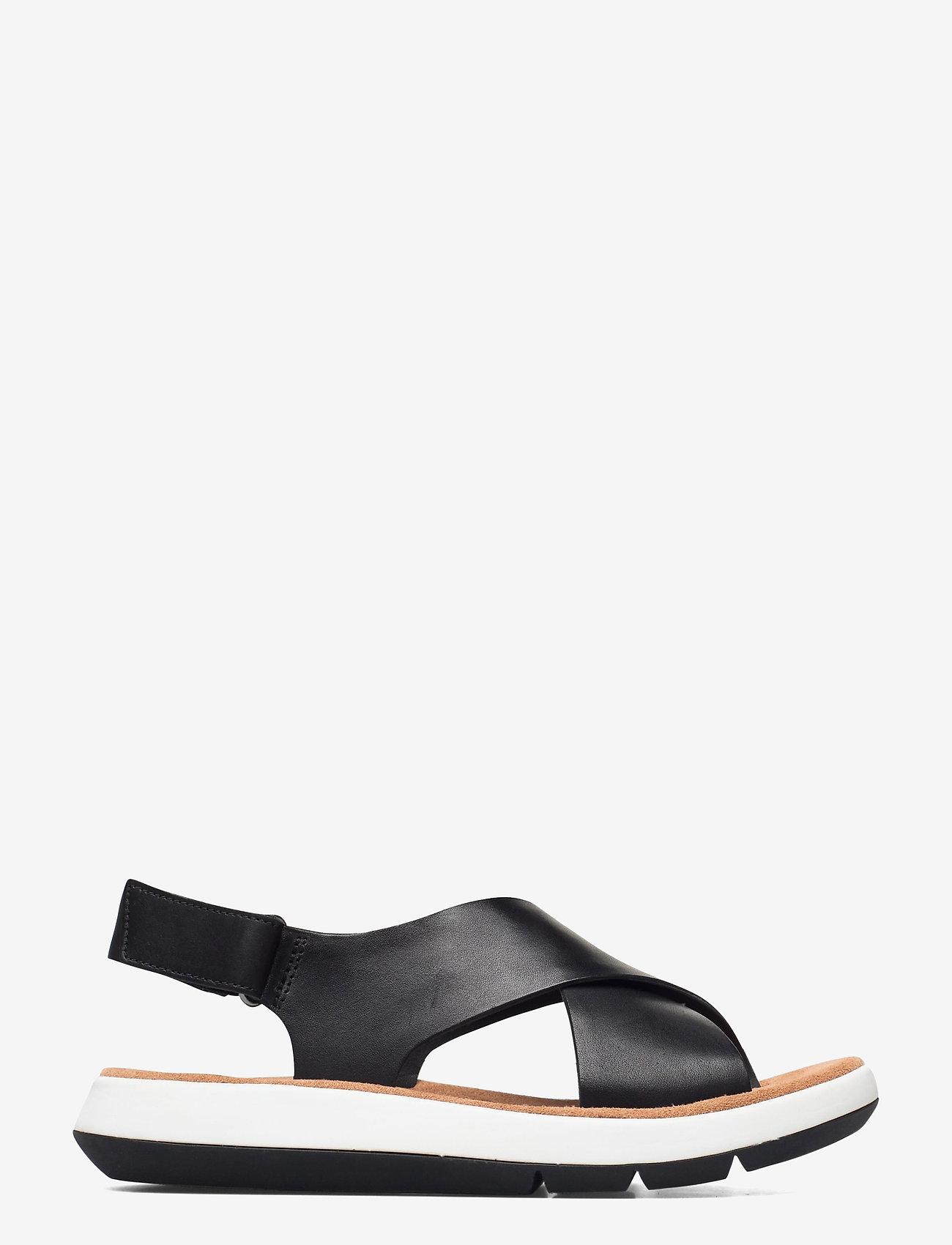 Clarks - Jemsa Cross - platta sandaler - black leather - 1